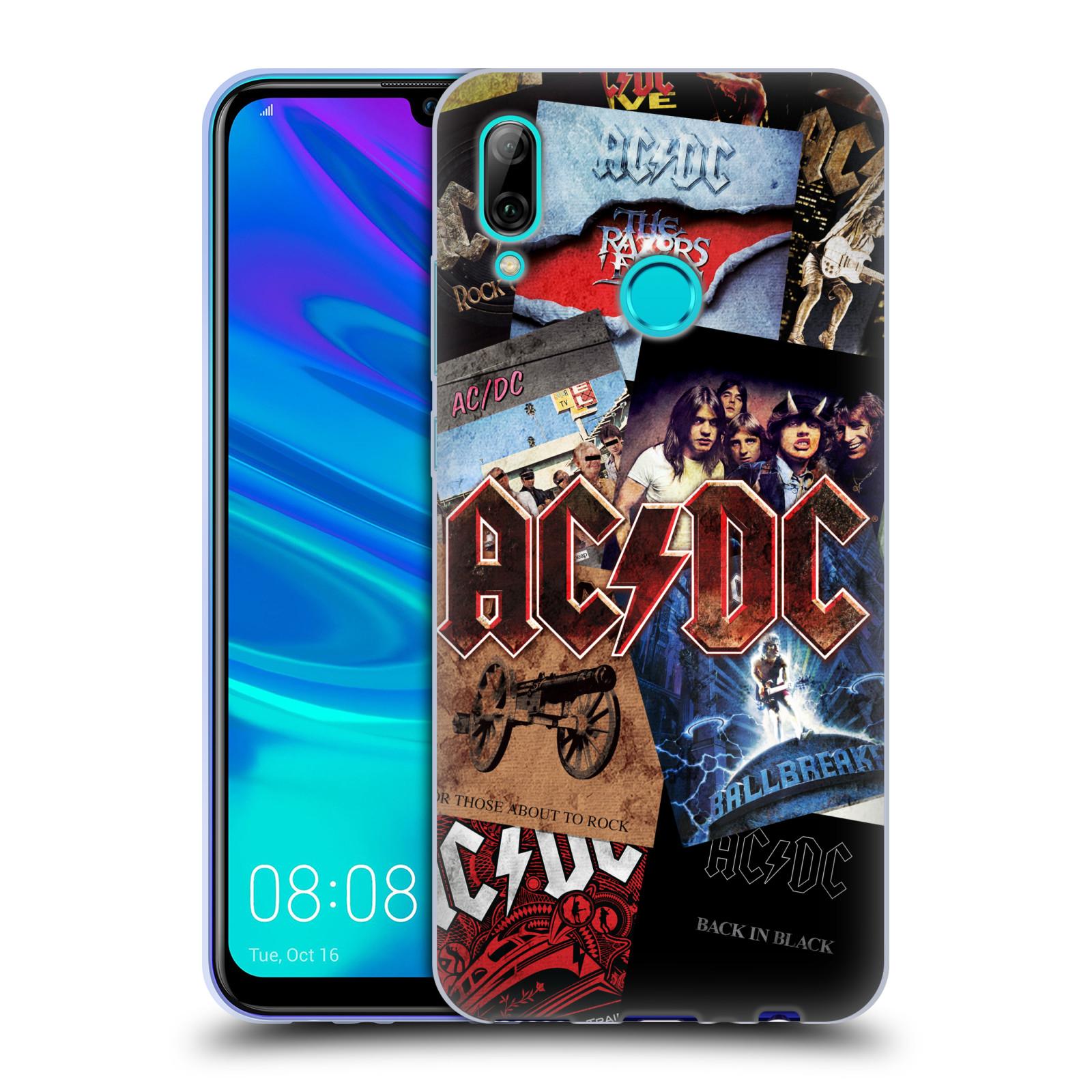 Silikonové pouzdro na mobil Huawei P Smart (2019) - Head Case - AC/DC Koláž desek