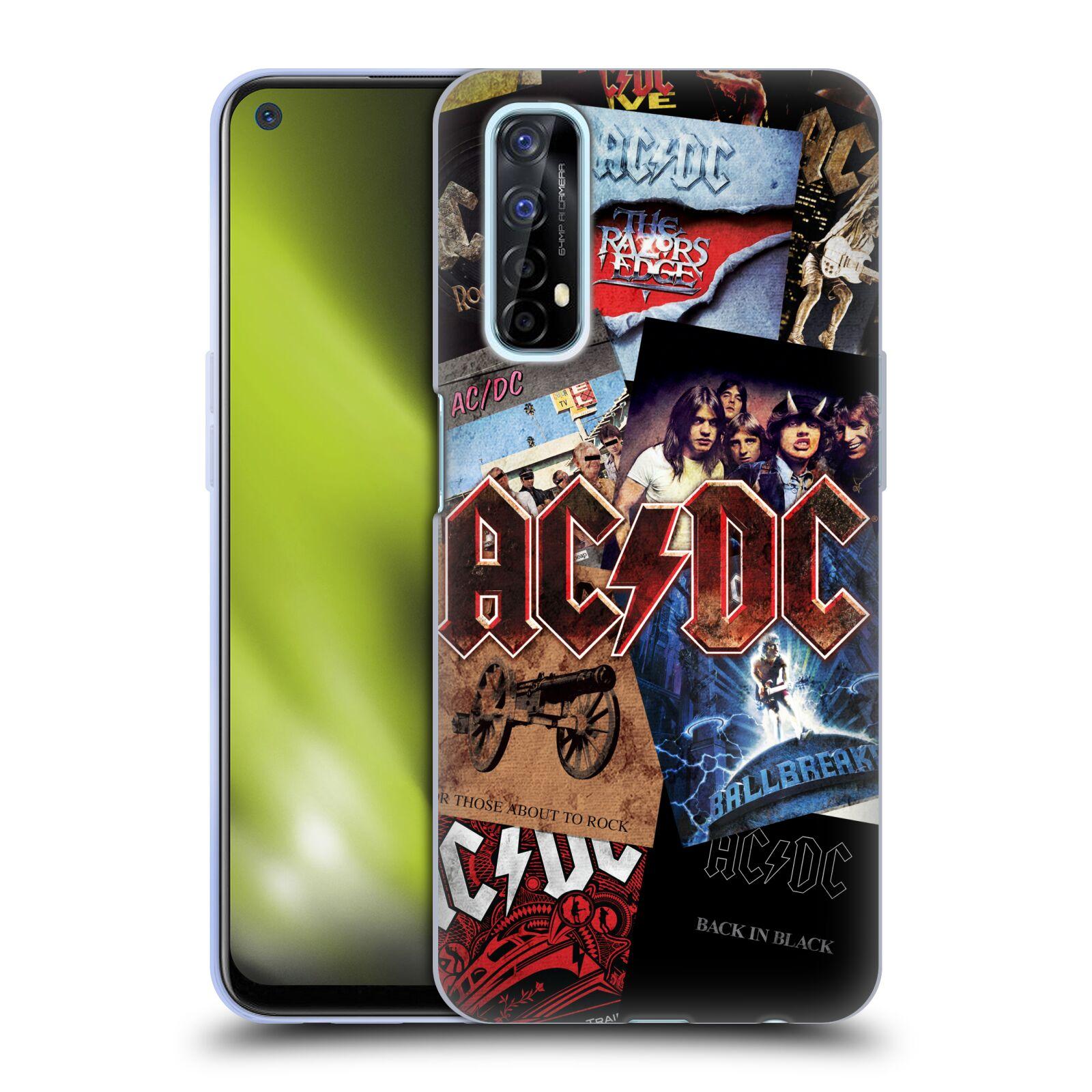 Silikonové pouzdro na mobil Realme 7 - Head Case - AC/DC Koláž desek