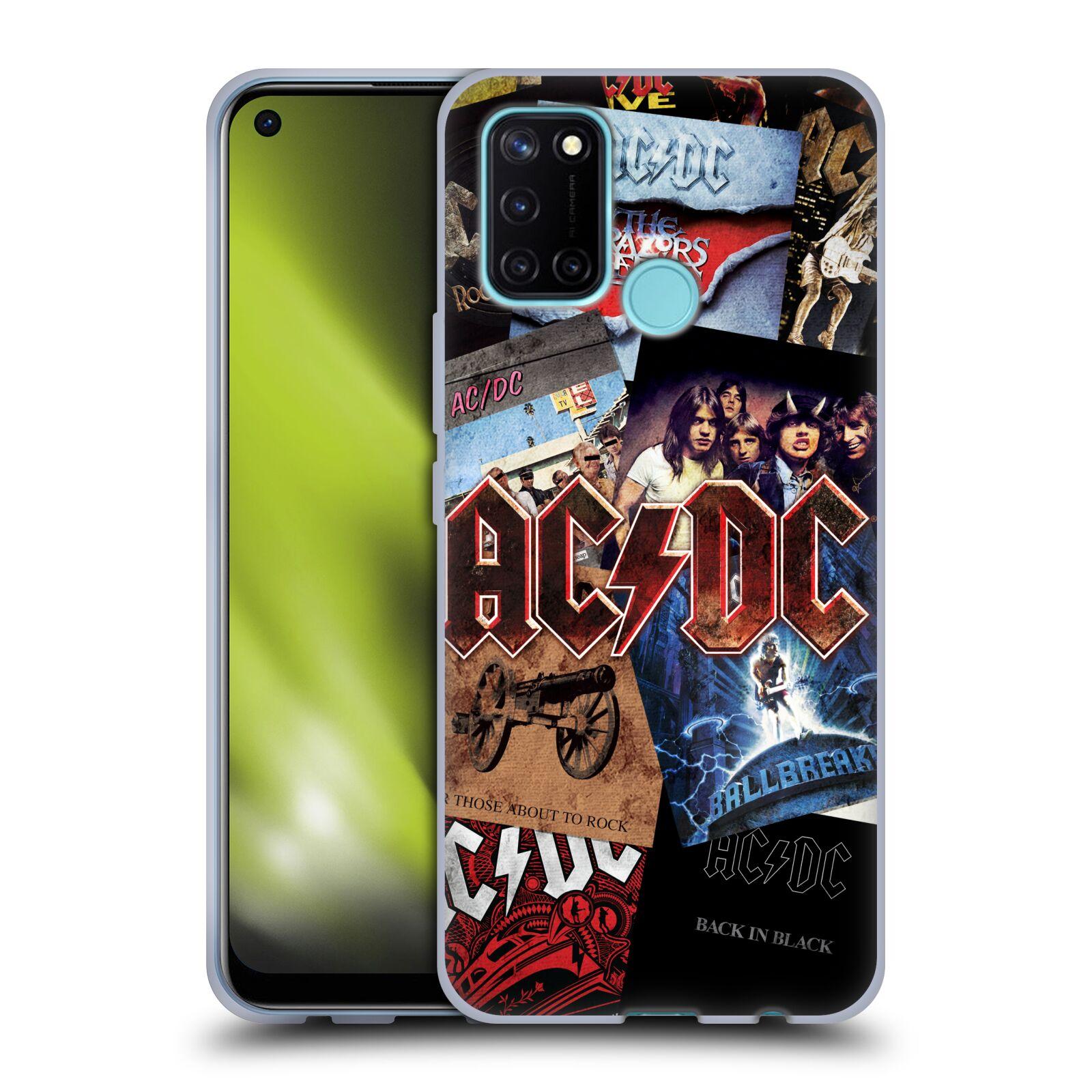 Silikonové pouzdro na mobil Realme 7i - Head Case - AC/DC Koláž desek