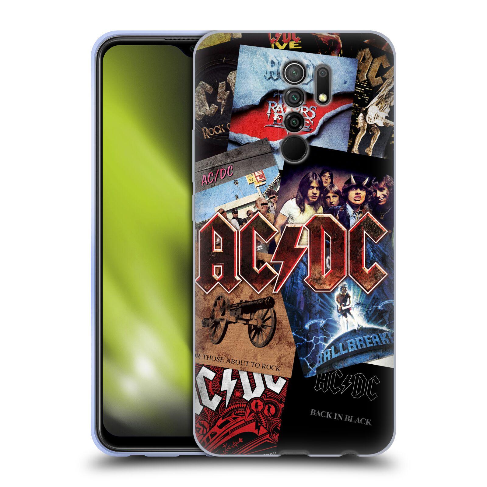 Silikonové pouzdro na mobil Xiaomi Redmi 9 - Head Case - AC/DC Koláž desek