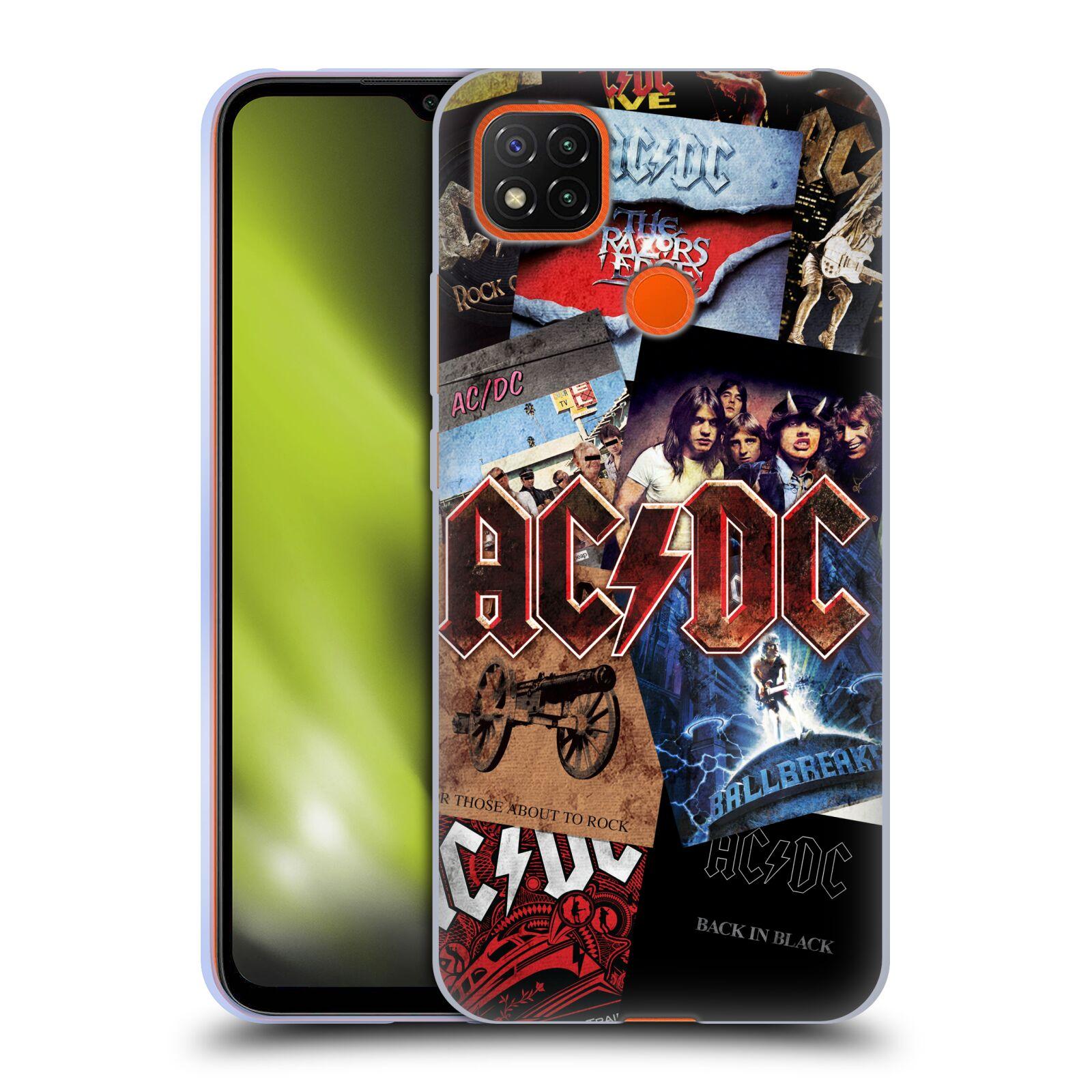 Silikonové pouzdro na mobil Xiaomi Redmi 9C - Head Case - AC/DC Koláž desek