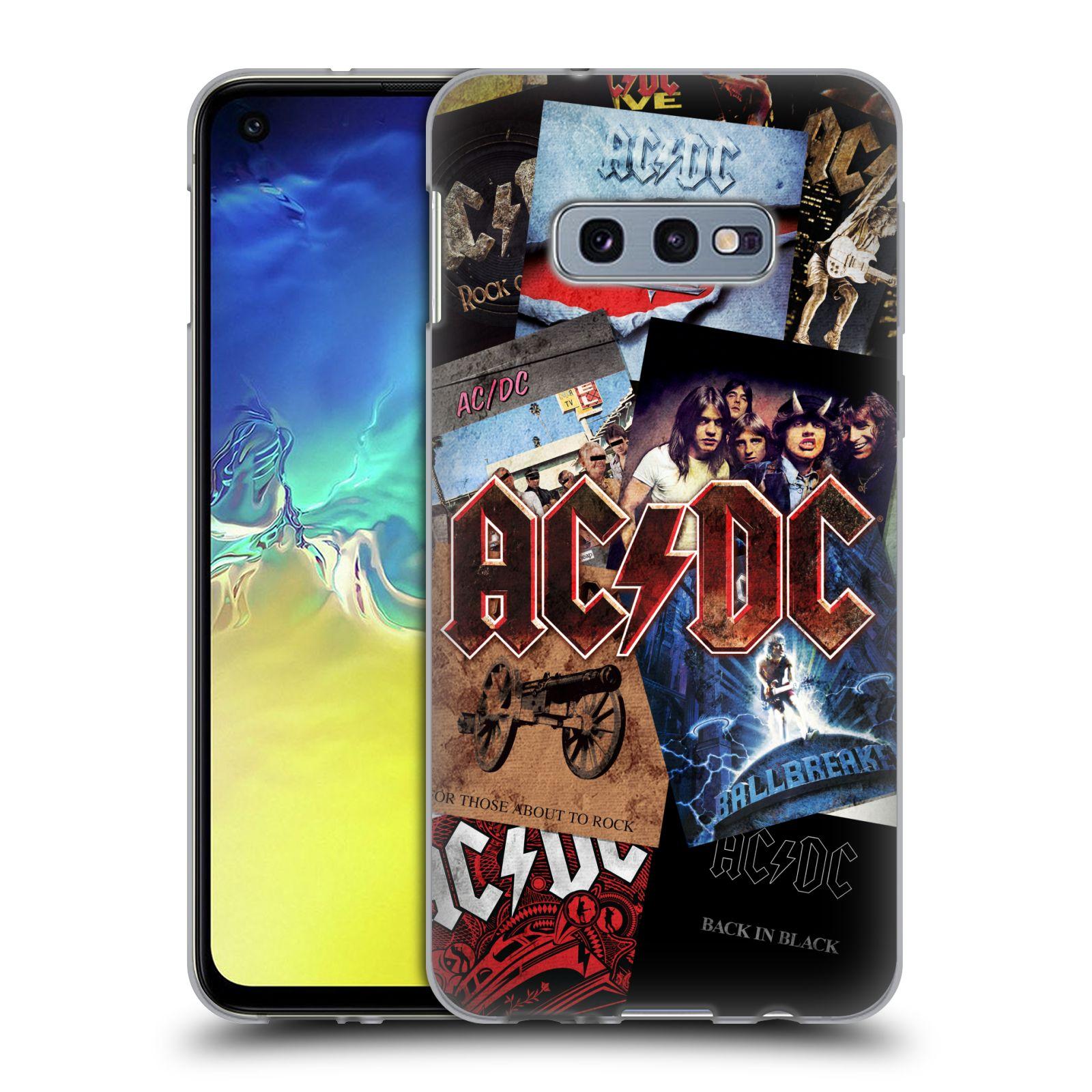Silikonové pouzdro na mobil Samsung Galaxy S10e - Head Case - AC/DC Koláž desek