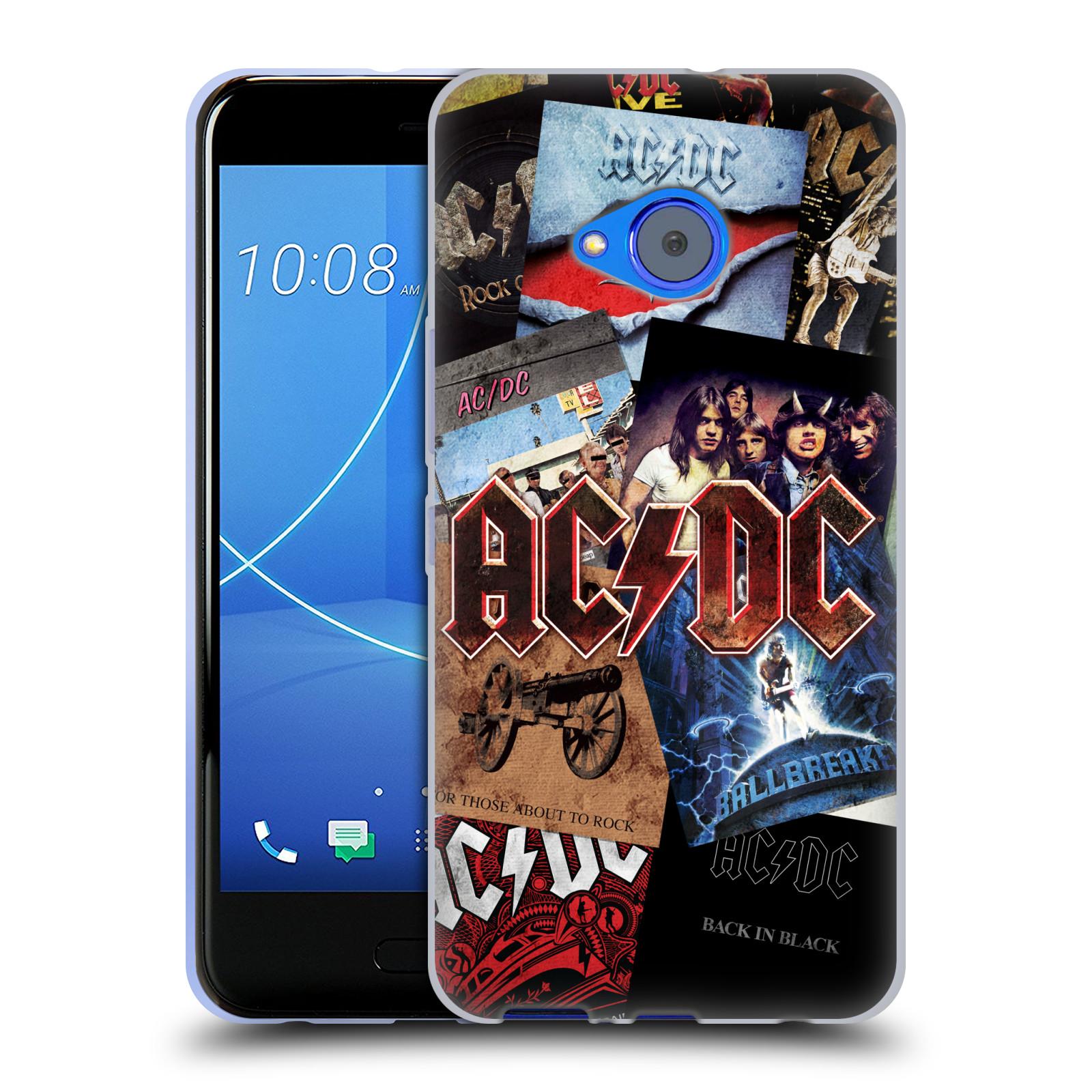 Silikonové pouzdro na mobil HTC U11 Life - Head Case - AC/DC Koláž desek