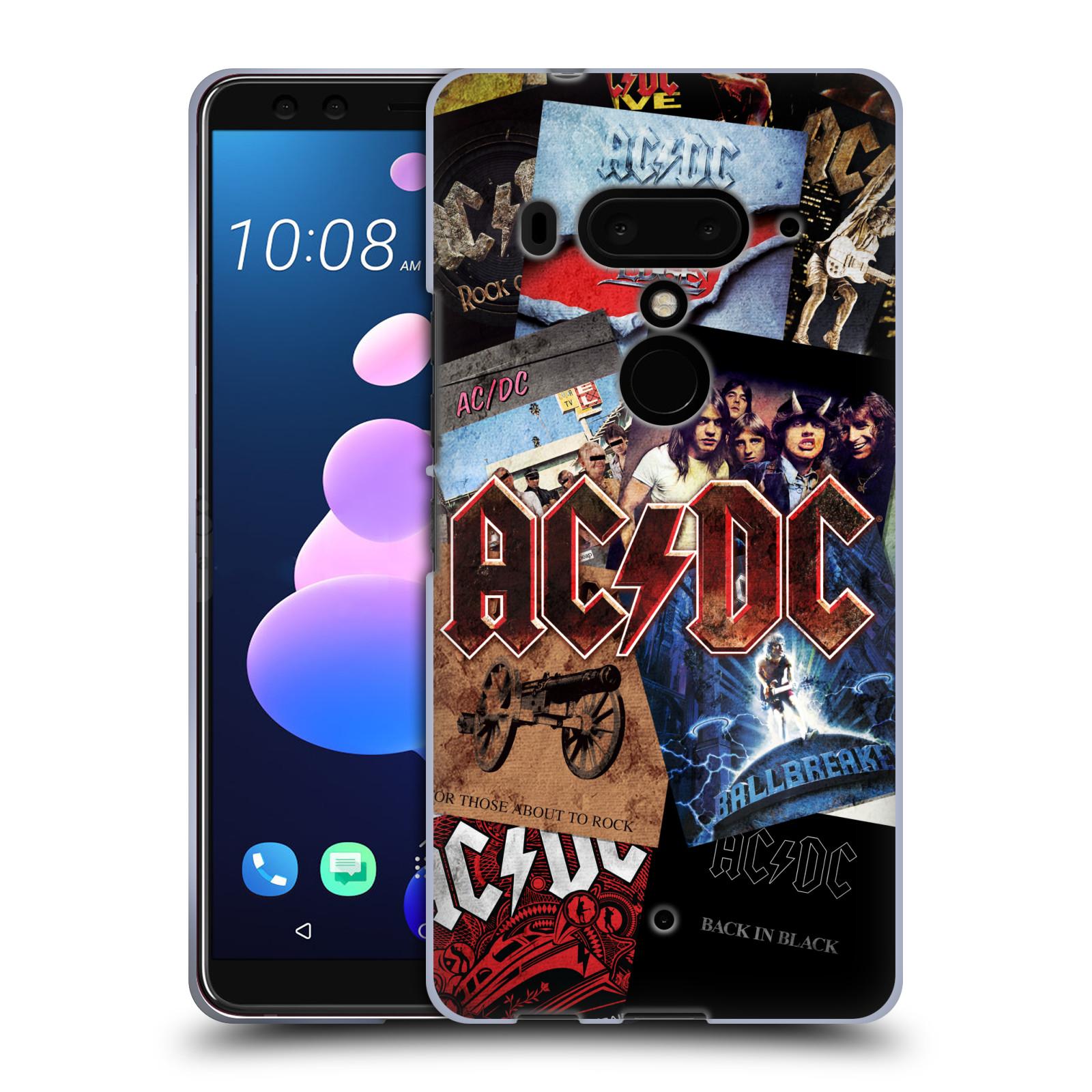 Silikonové pouzdro na mobil HTC U12 Plus - Head Case - AC/DC Koláž desek