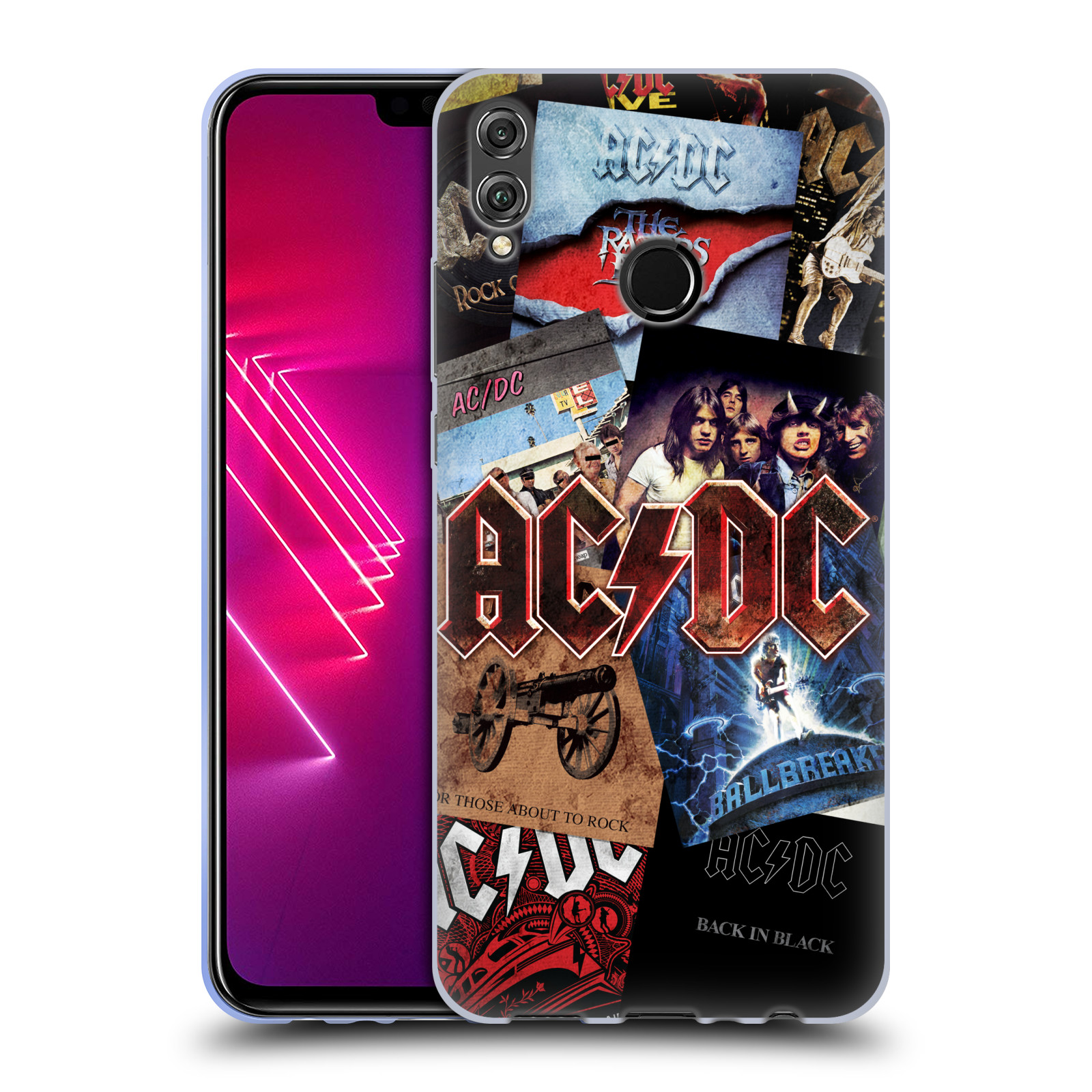 Silikonové pouzdro na mobil Honor View 10 Lite - Head Case - AC/DC Koláž desek