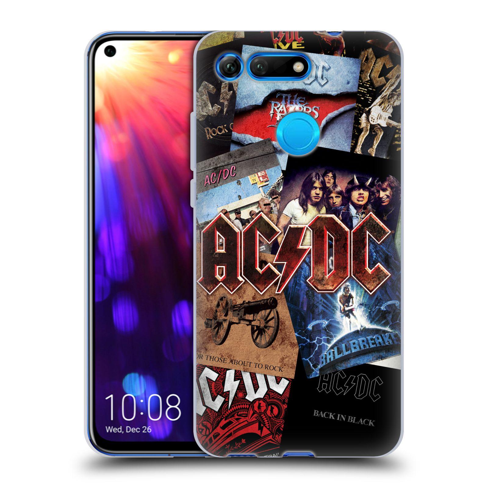 Silikonové pouzdro na mobil Honor View 20 - Head Case - AC/DC Koláž desek