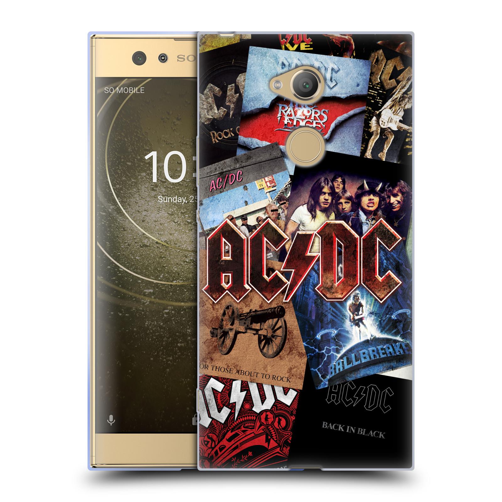 Silikonové pouzdro na mobil Sony Xperia XA2 Ultra - Head Case - AC/DC Koláž desek