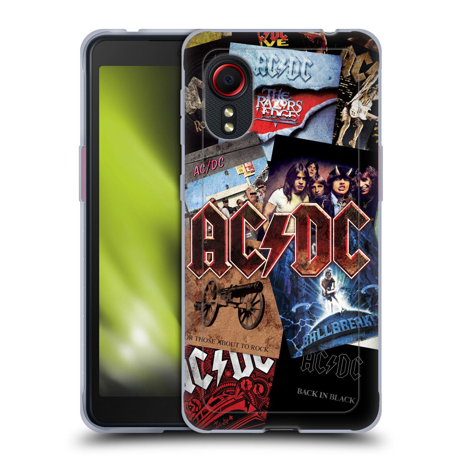 Silikonové pouzdro na mobil Samsung Galaxy Xcover 5 - Head Case - AC/DC Koláž desek
