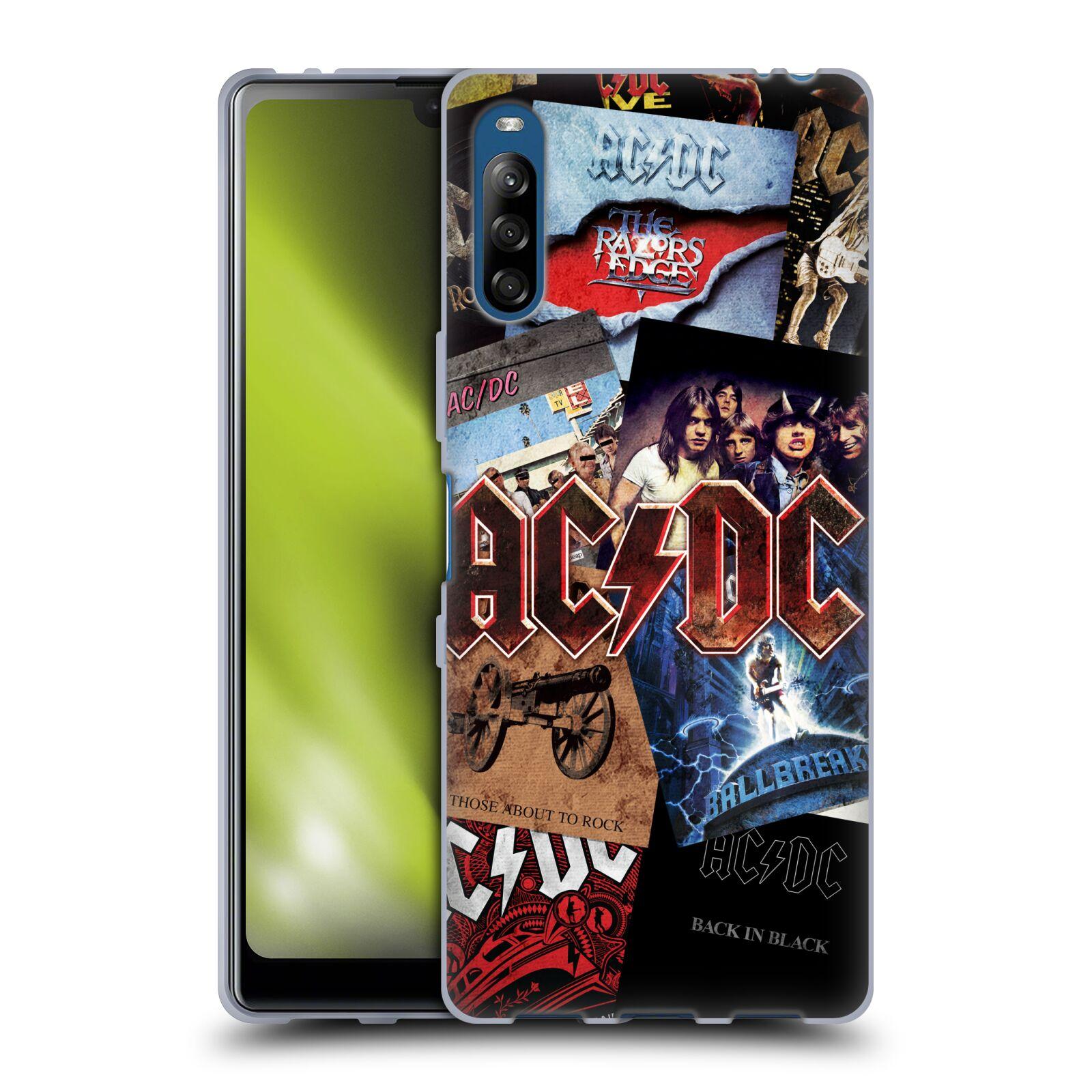 Silikonové pouzdro na mobil Sony Xperia L4 - Head Case - AC/DC Koláž desek