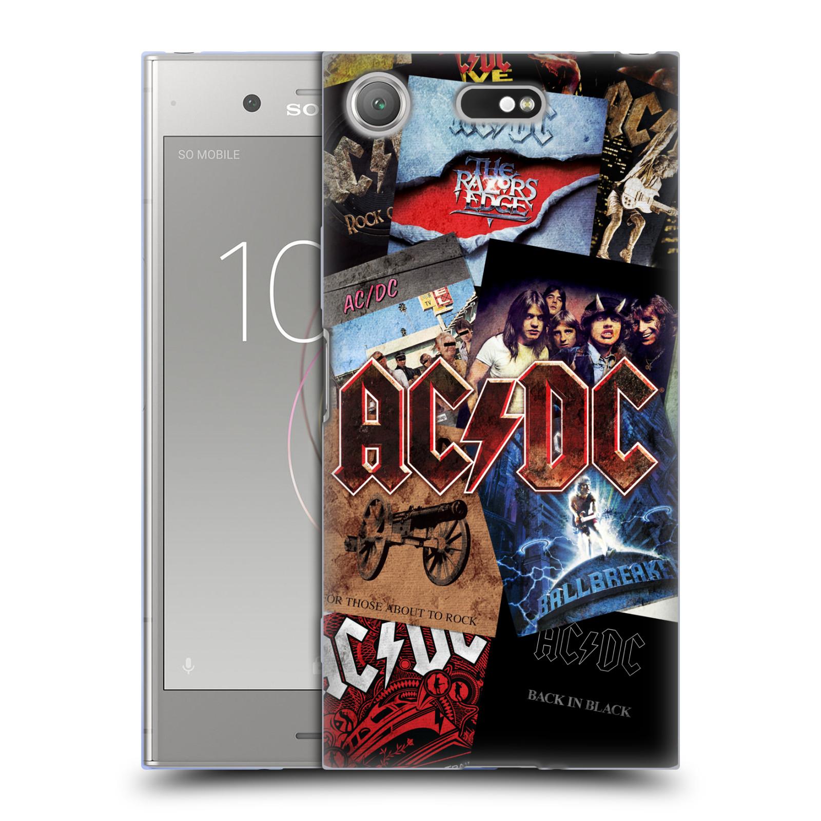 Silikonové pouzdro na mobil Sony Xperia XZ1 Compact - Head Case - AC/DC Koláž desek