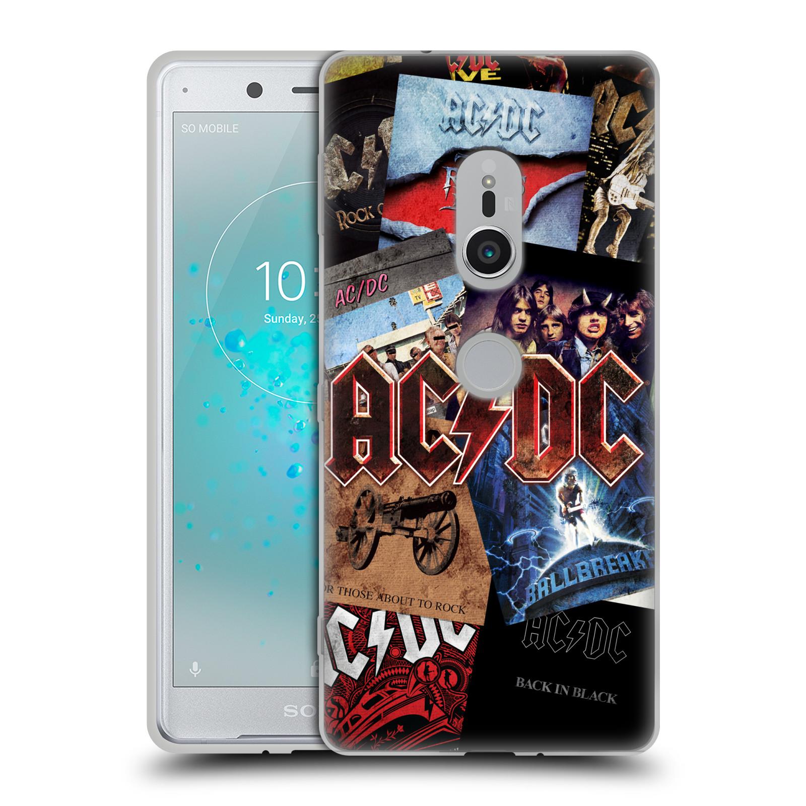 Silikonové pouzdro na mobil Sony Xperia XZ2 - Head Case - AC/DC Koláž desek