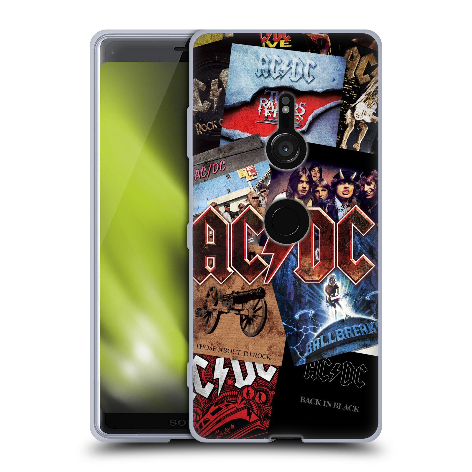 Silikonové pouzdro na mobil Sony Xperia XZ3 - Head Case - AC/DC Koláž desek