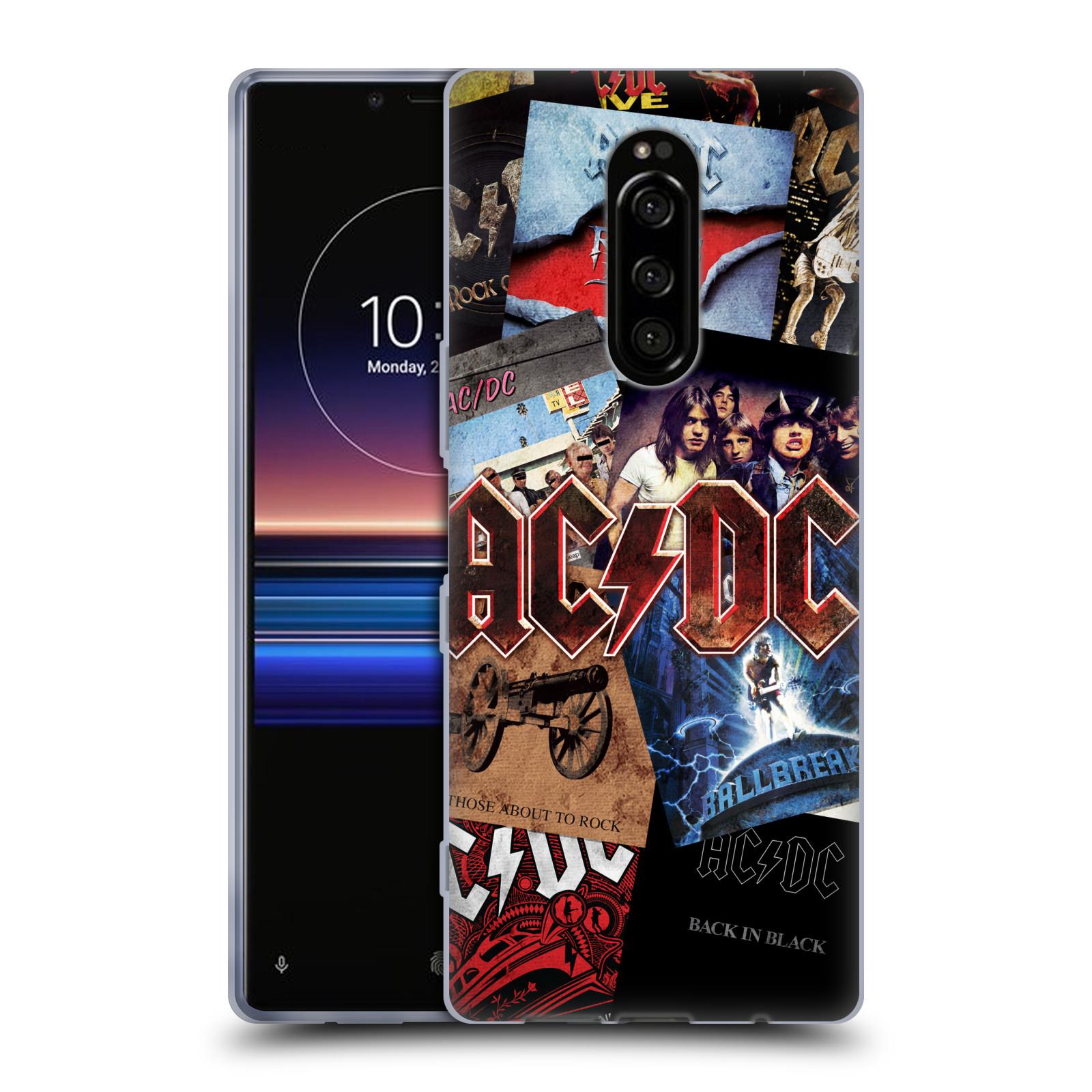 Silikonové pouzdro na mobil Sony Xperia 1 - Head Case - AC/DC Koláž desek