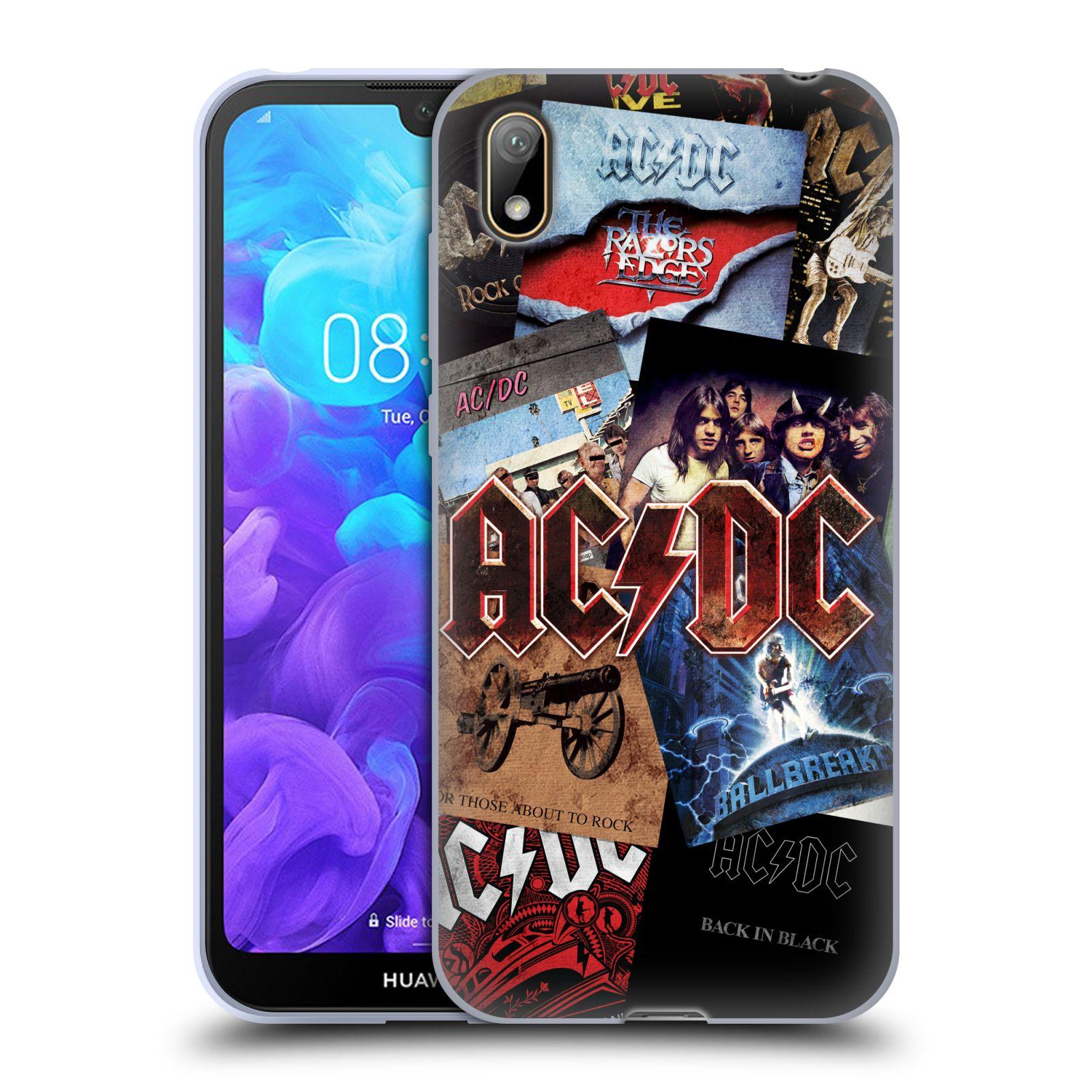 Silikonové pouzdro na mobil Huawei Y5 (2019) - Head Case - AC/DC Koláž desek