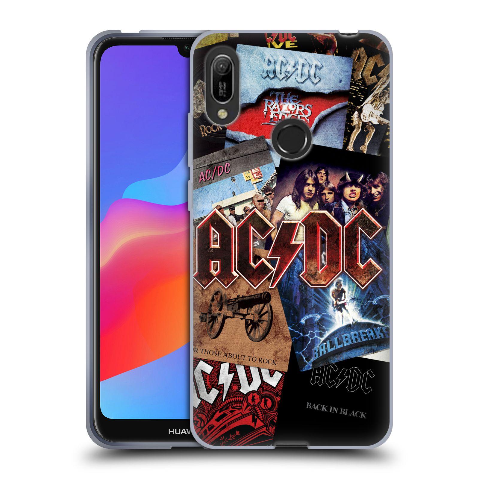 Silikonové pouzdro na mobil Huawei Y6 (2019) - Head Case - AC/DC Koláž desek