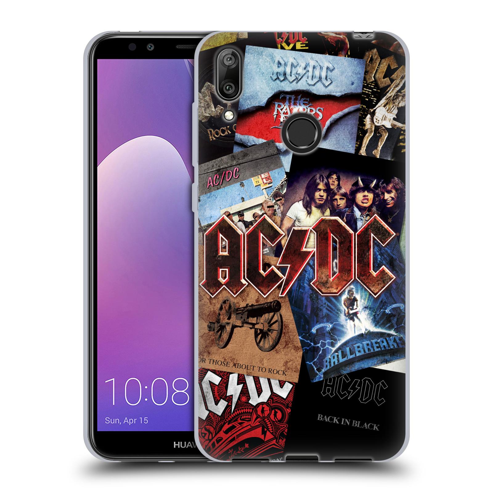 Silikonové pouzdro na mobil Huawei Y7 (2019) - Head Case - AC/DC Koláž desek