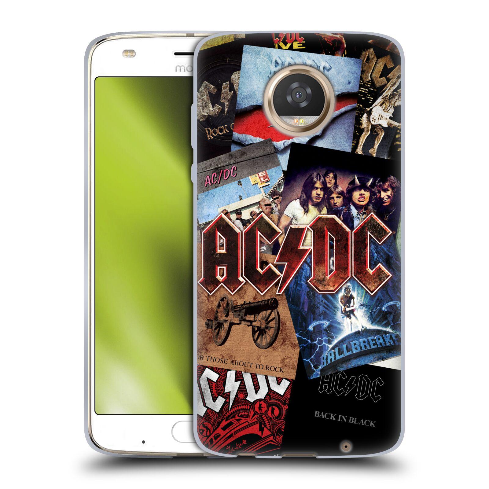 Silikonové pouzdro na mobil Lenovo Moto Z2 Play - Head Case - AC/DC Koláž desek