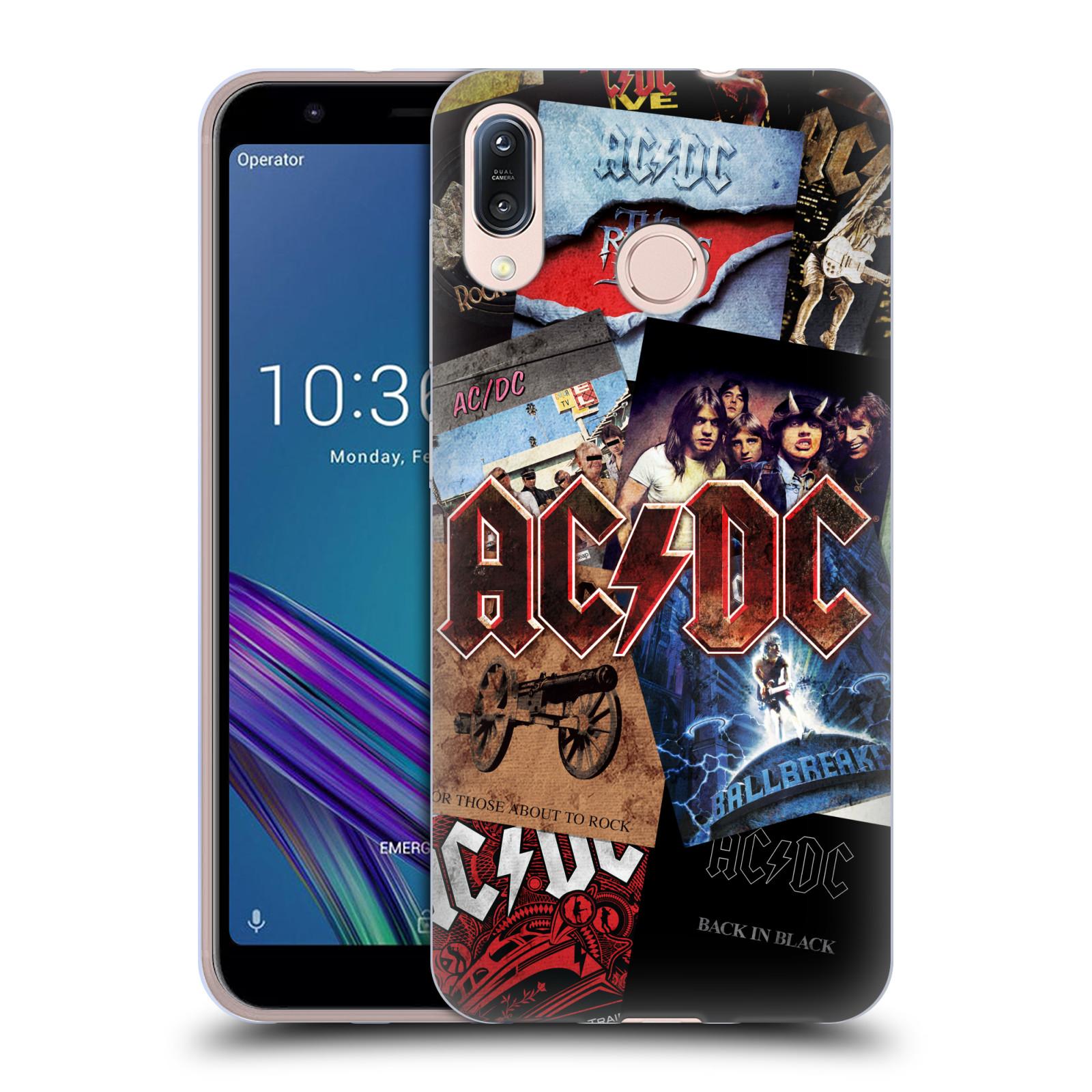 Silikonové pouzdro na mobil Asus Zenfone Max M1 ZB555KL - Head Case - AC/DC Koláž desek