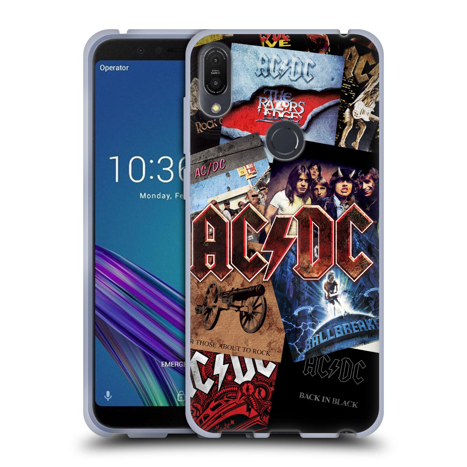 Silikonové pouzdro na mobil Asus ZenFone Max Pro (M1) - Head Case - AC/DC Koláž desek