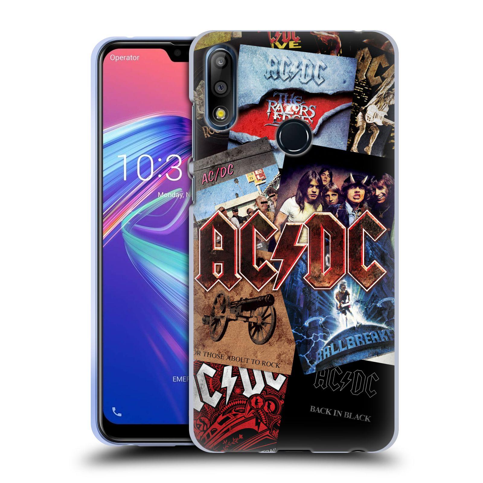 Silikonové pouzdro na mobil Asus Zenfone Max Pro M2 ZB631KL - Head Case - AC/DC Koláž desek