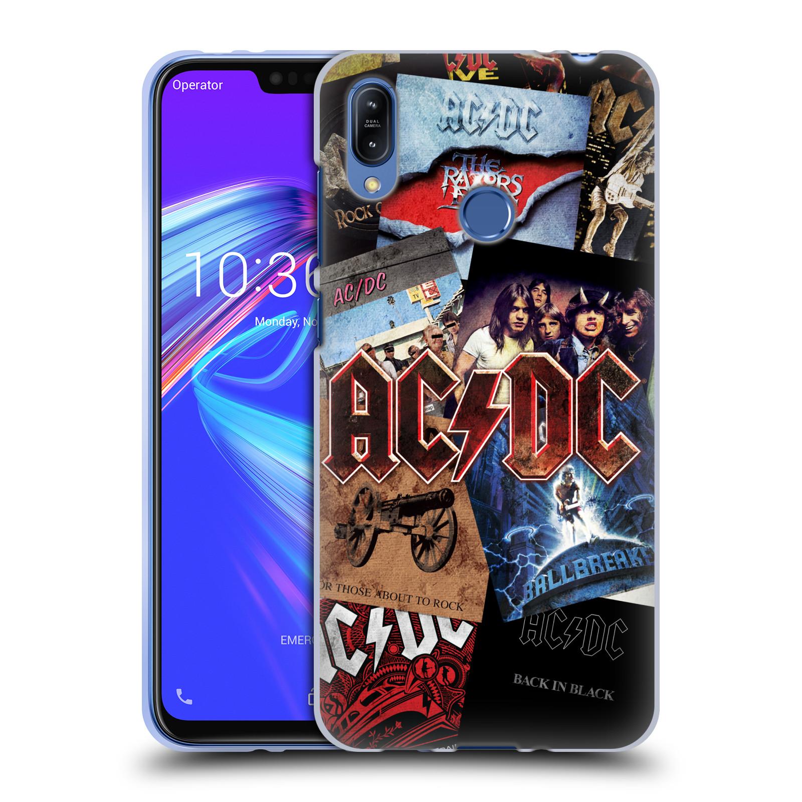 Silikonové pouzdro na mobil Asus Zenfone Max (M2) ZB633KL - Head Case - AC/DC Koláž desek