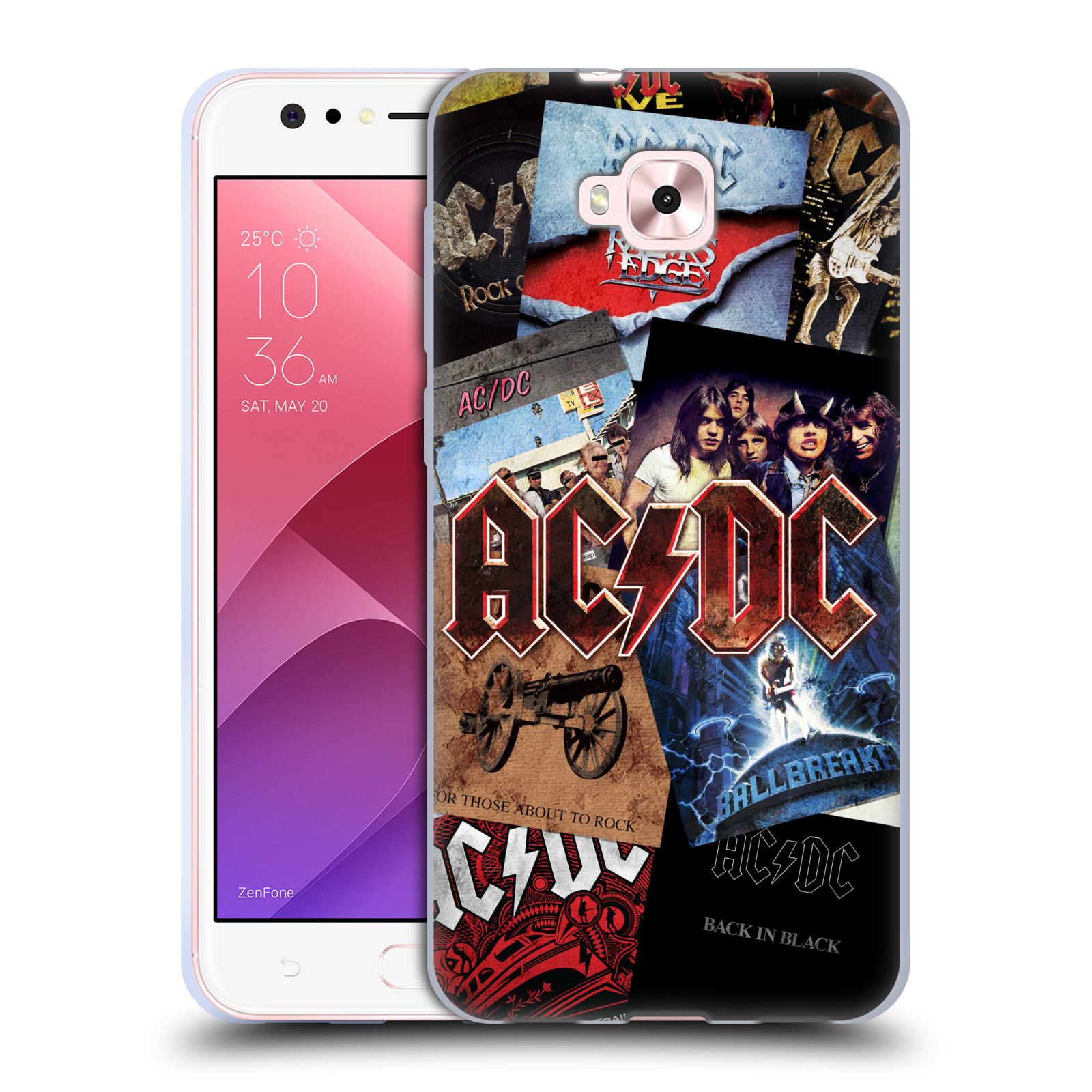 Silikonové pouzdro na mobil Asus Zenfone 4 Selfie ZD553KL - Head Case - AC/DC Koláž desek