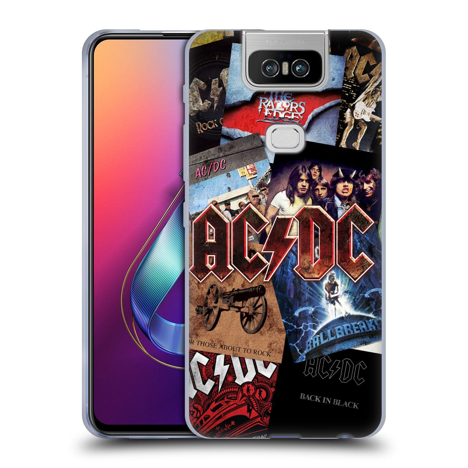 Silikonové pouzdro na mobil Asus Zenfone 6 ZS630KL - Head Case - AC/DC Koláž desek