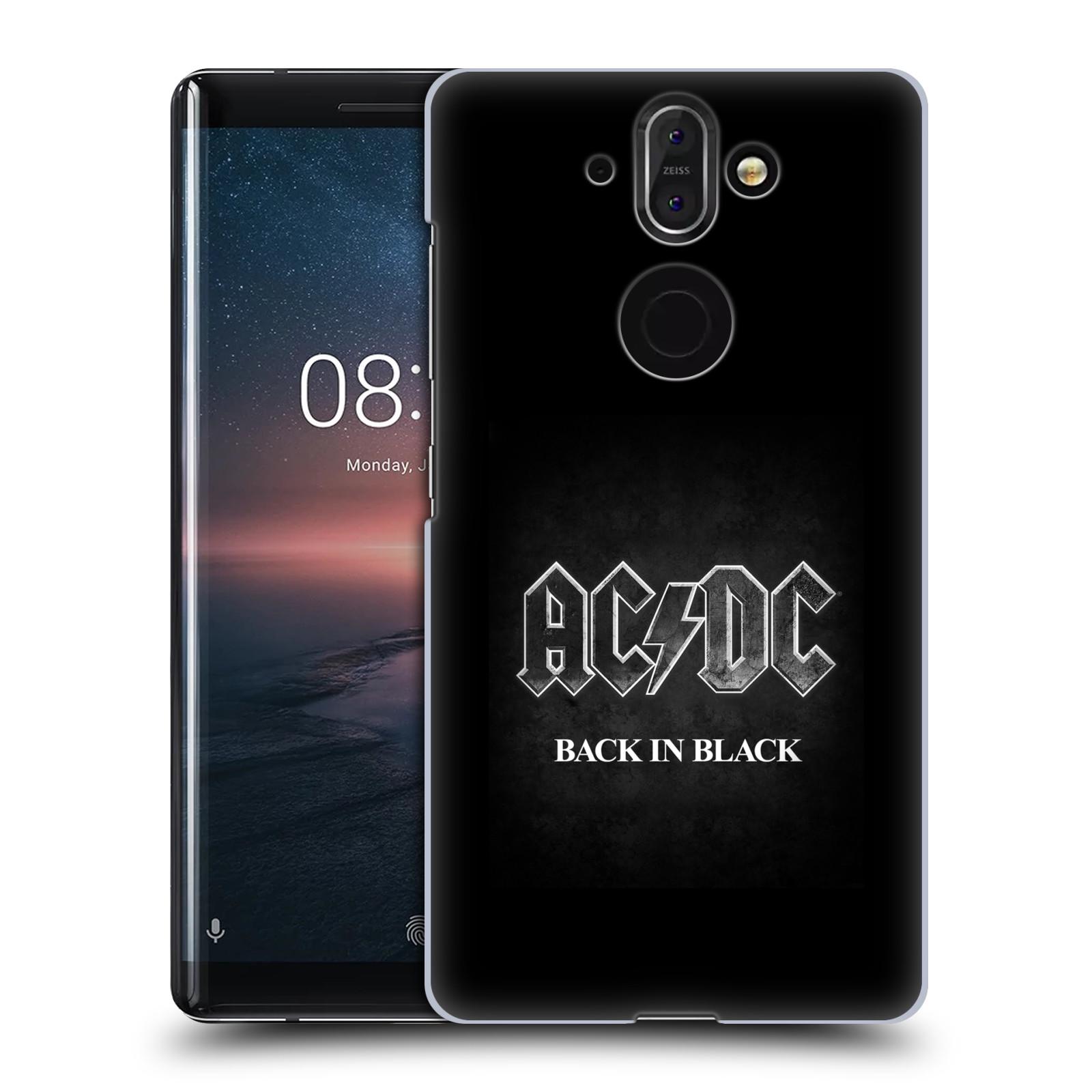 Plastové pouzdro na mobil Nokia 8 Sirocco - Head Case - AC/DC BACK IN BLACK