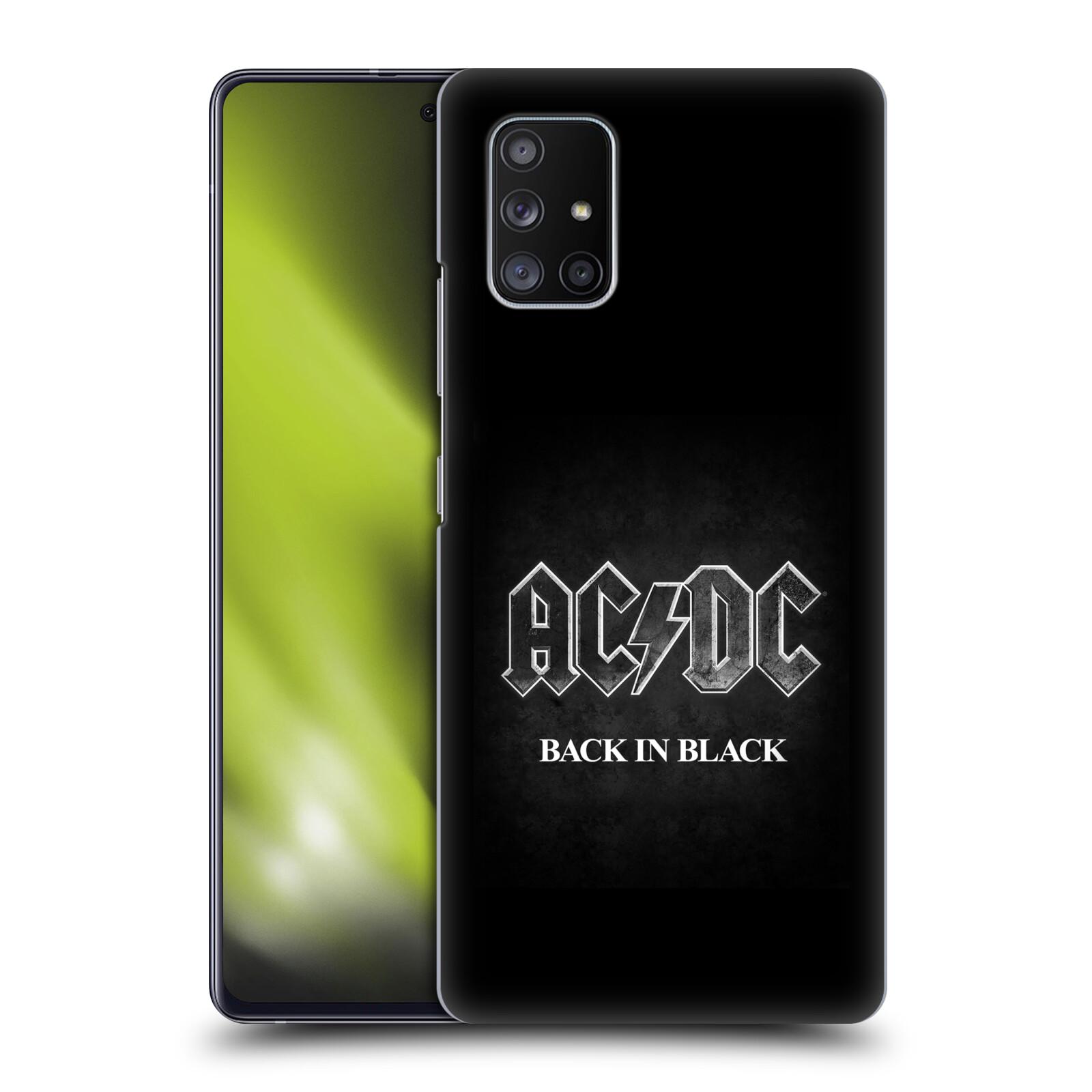 Plastové pouzdro na mobil Samsung Galaxy A51 5G - Head Case - AC/DC BACK IN BLACK