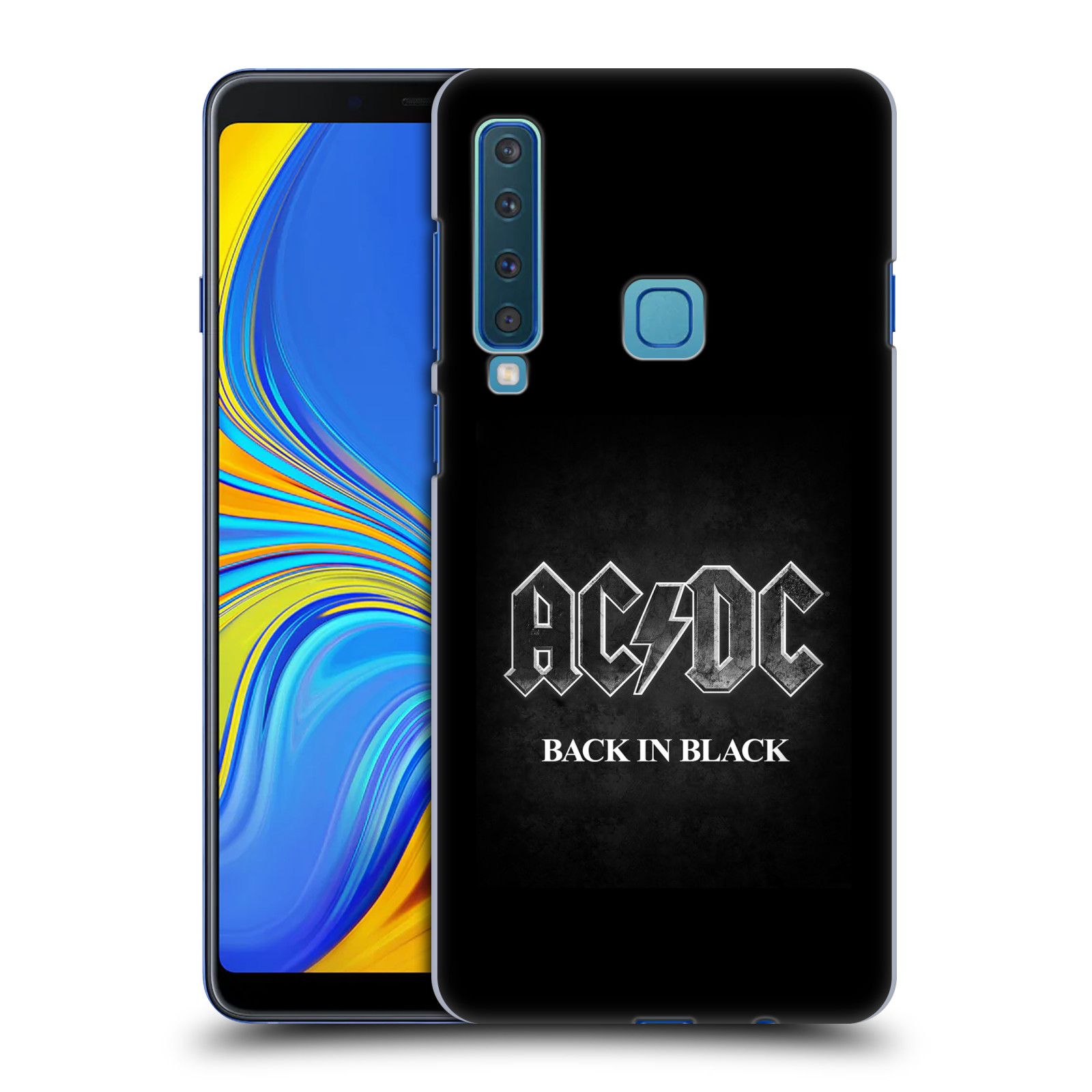 Plastové pouzdro na mobil Samsung Galaxy A9 (2018) - Head Case - AC/DC BACK IN BLACK
