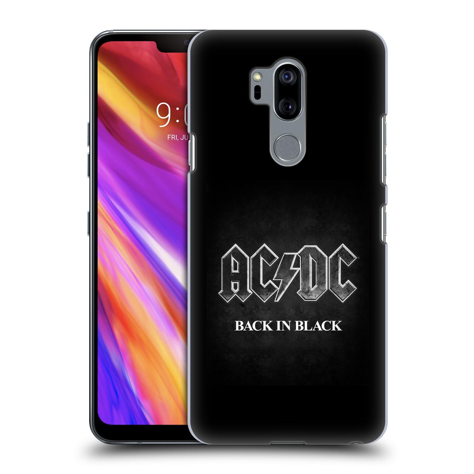 Plastové pouzdro na mobil LG G7 ThinQ - Head Case - AC/DC BACK IN BLACK