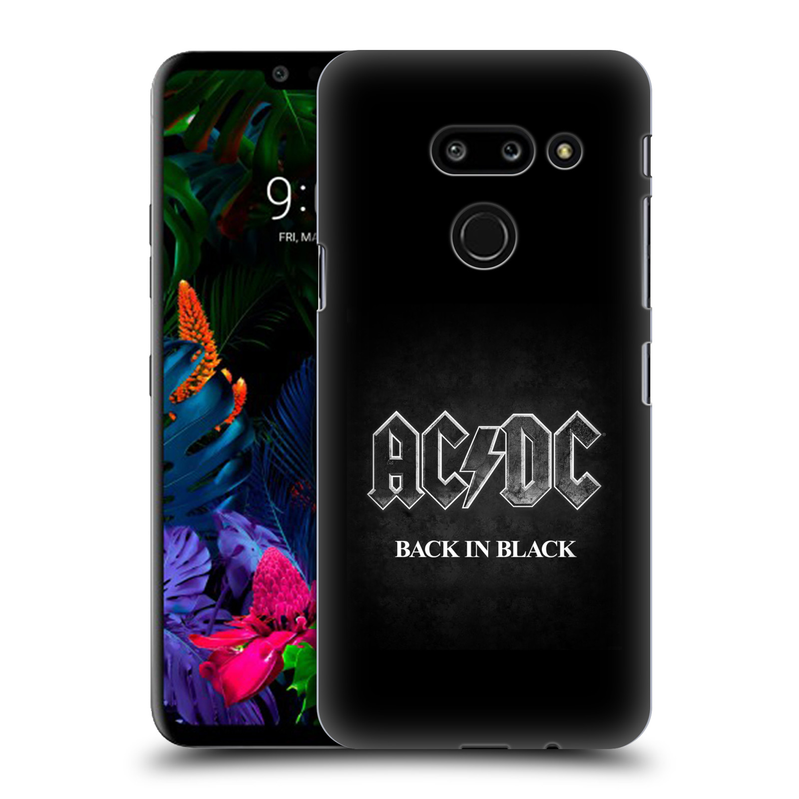 Plastové pouzdro na mobil LG G8 ThinQ - Head Case - AC/DC BACK IN BLACK