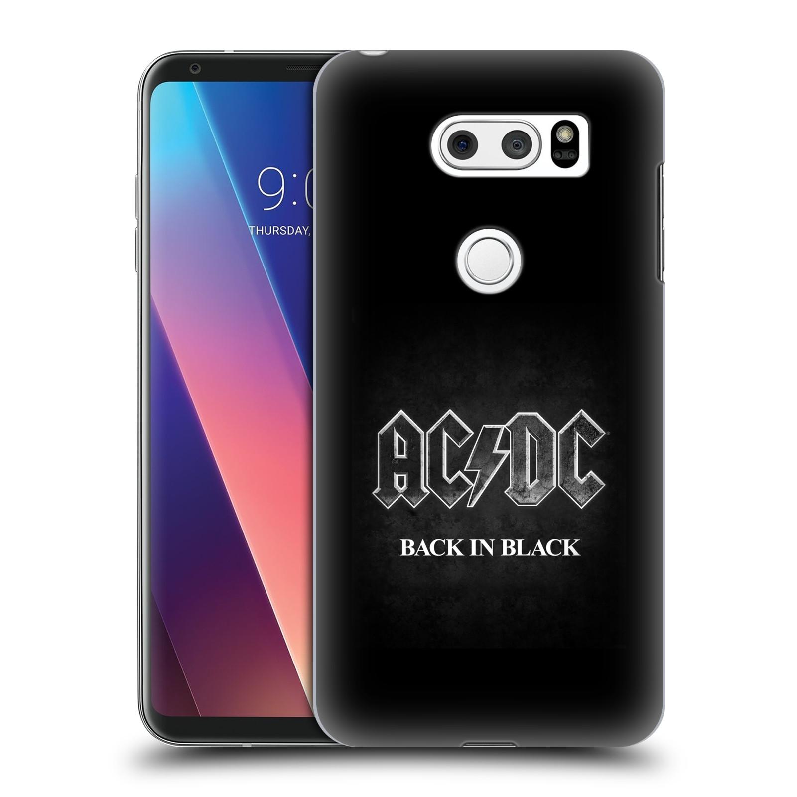 Plastové pouzdro na mobil LG V30 - Head Case - AC/DC BACK IN BLACK