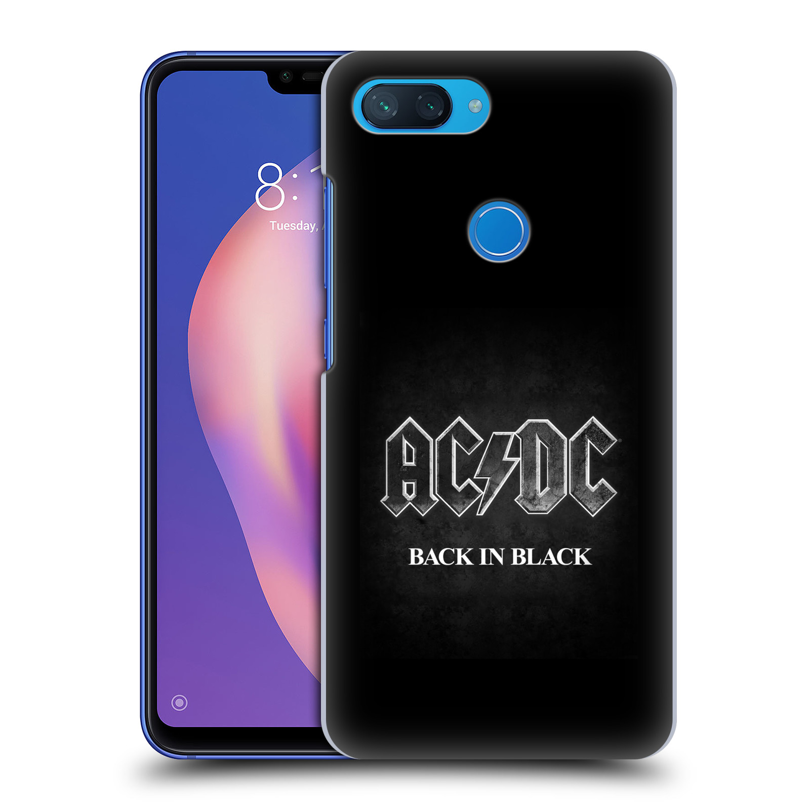Plastové pouzdro na mobil Xiaomi Mi 8 Lite - Head Case - AC/DC BACK IN BLACK