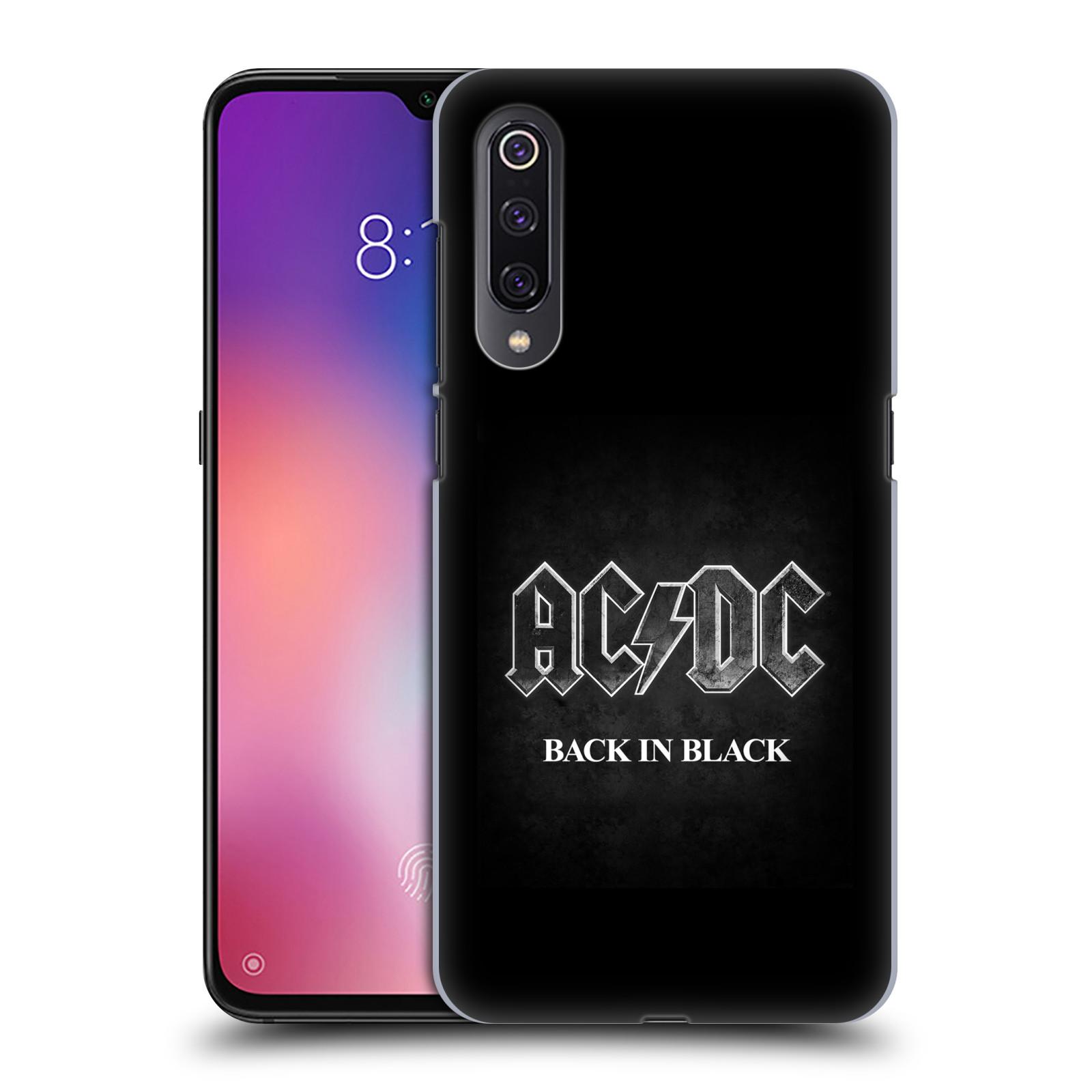 Plastové pouzdro na mobil Xiaomi Mi 9 - Head Case - AC/DC BACK IN BLACK