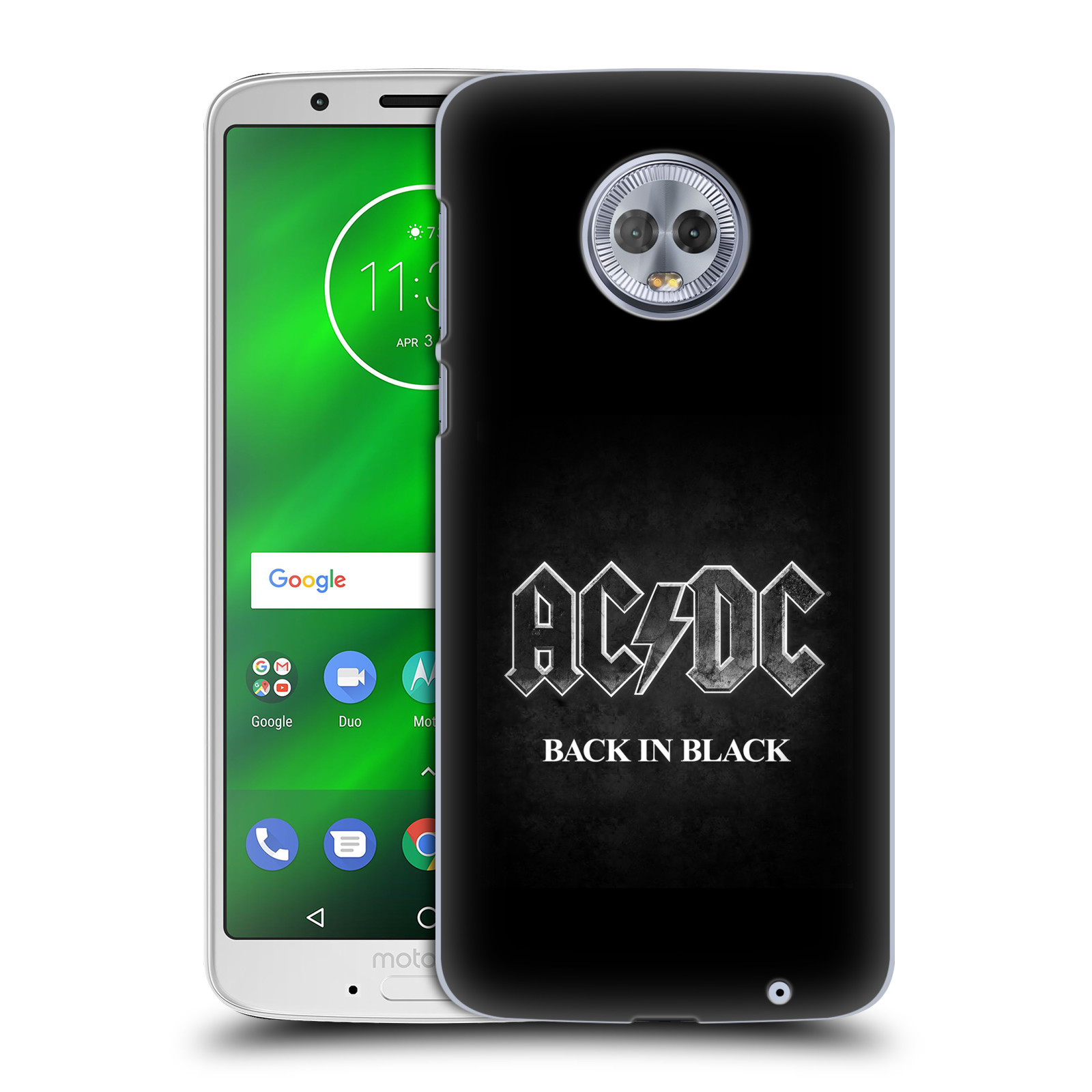 Plastové pouzdro na mobil Motorola Moto G6 Plus - Head Case - AC/DC BACK IN BLACK