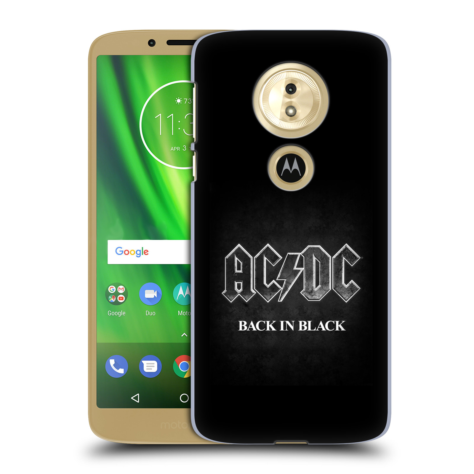 Plastové pouzdro na mobil Motorola Moto G6 Play - Head Case - AC/DC BACK IN BLACK