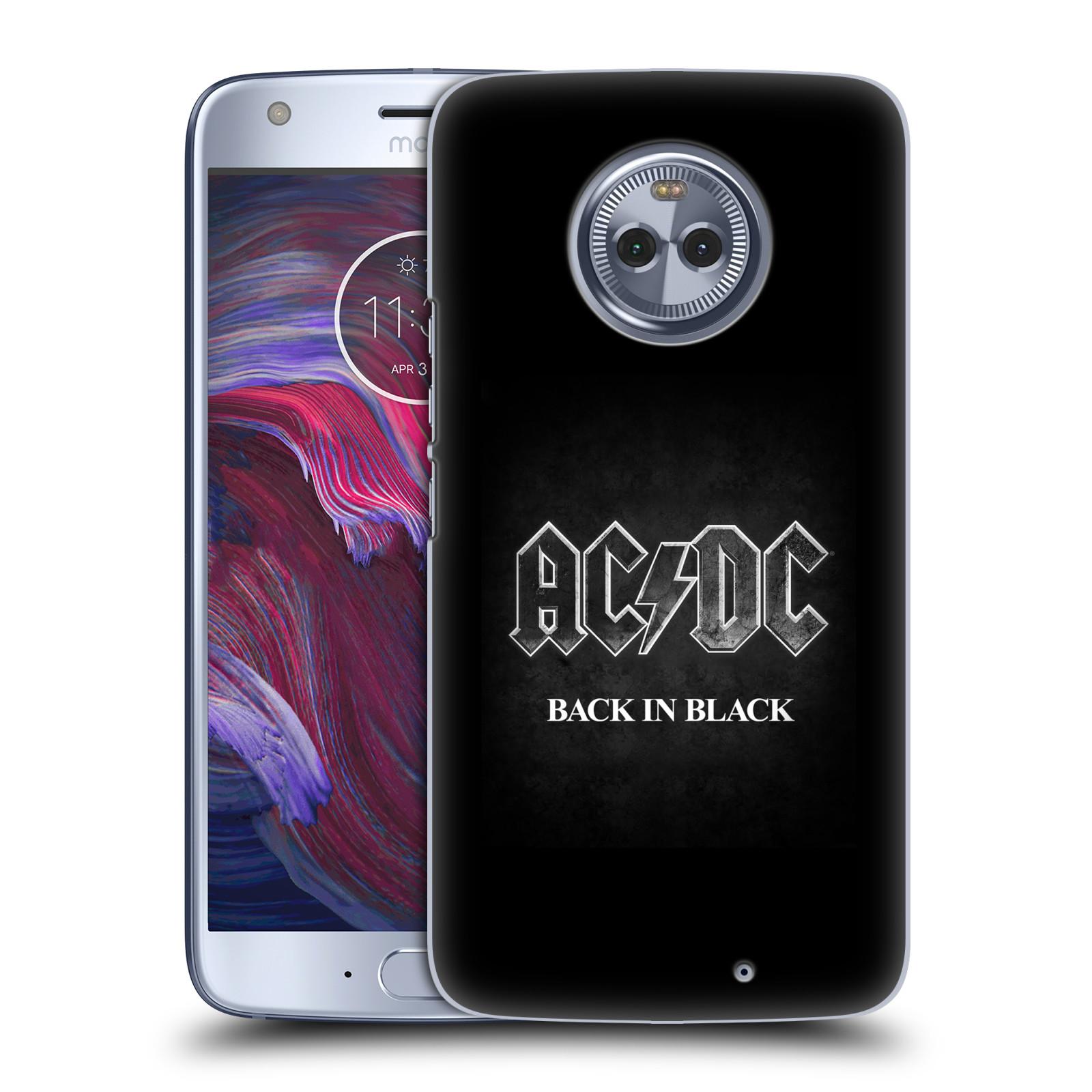 Plastové pouzdro na mobil Lenovo Moto X4 - Head Case - AC/DC BACK IN BLACK