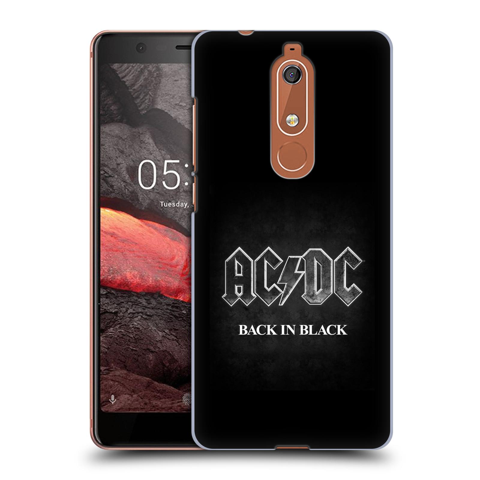 Plastové pouzdro na mobil Nokia 5.1 - Head Case - AC/DC BACK IN BLACK