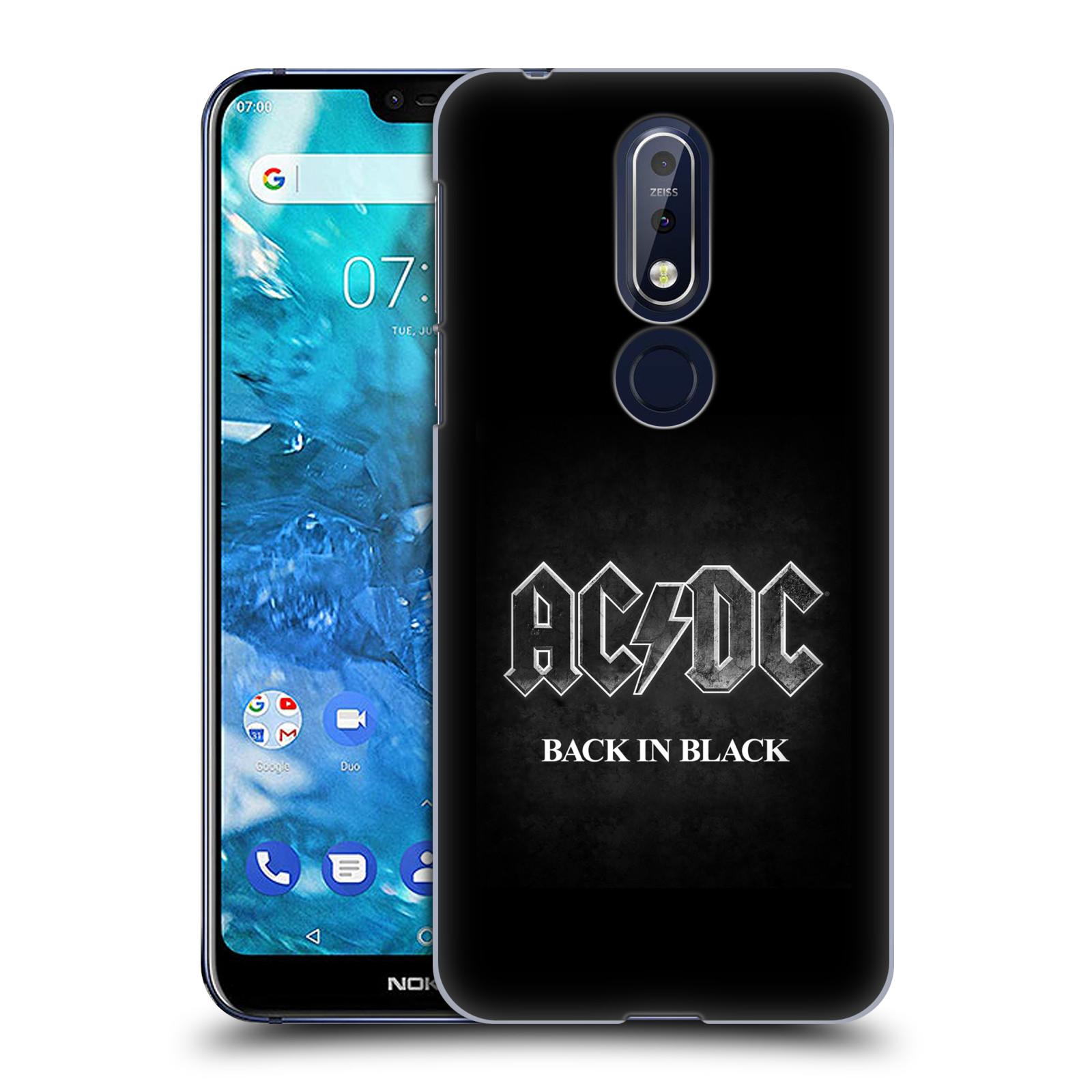 Plastové pouzdro na mobil Nokia 7.1 - Head Case - AC/DC BACK IN BLACK