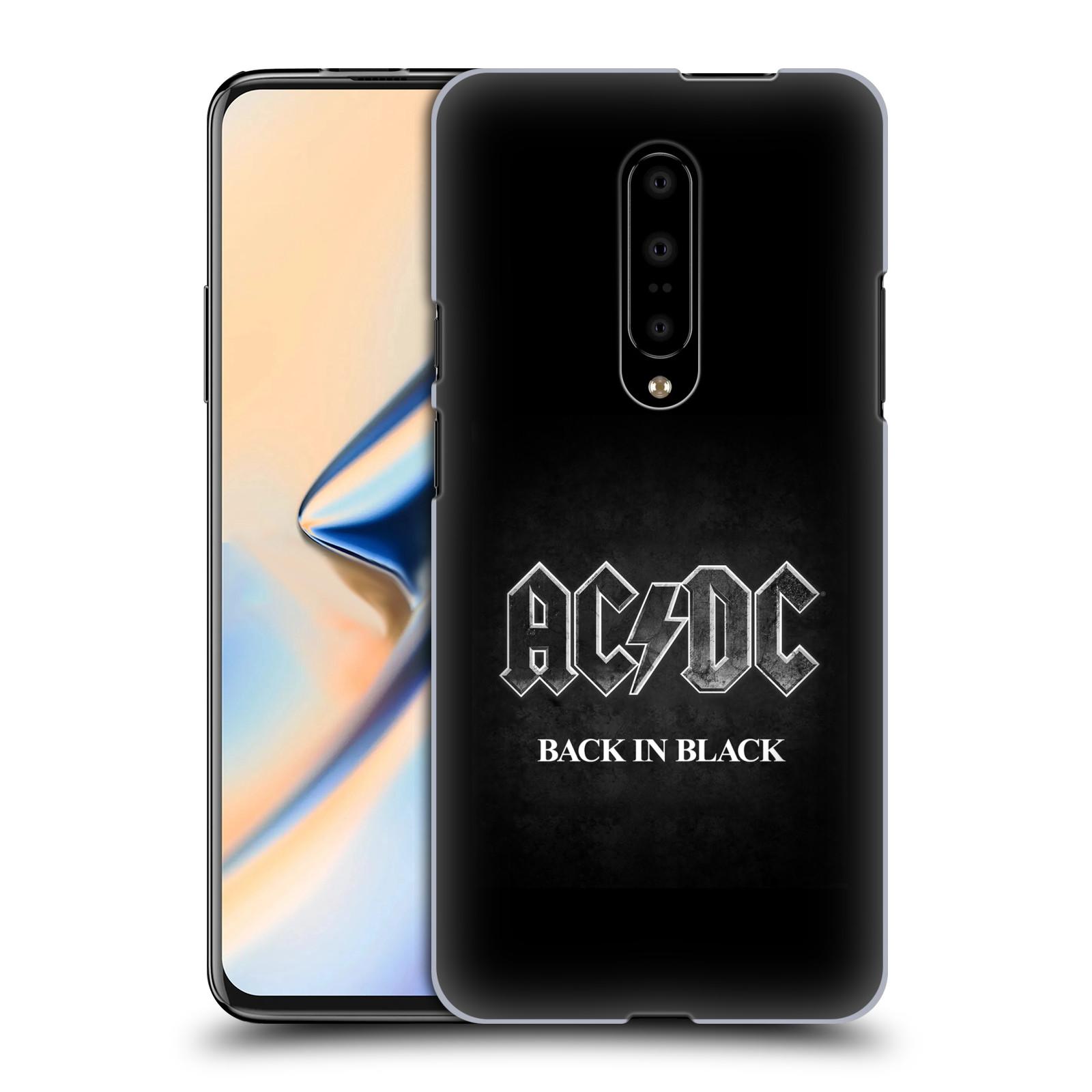 Plastové pouzdro na mobil OnePlus 7 - Head Case - AC/DC BACK IN BLACK