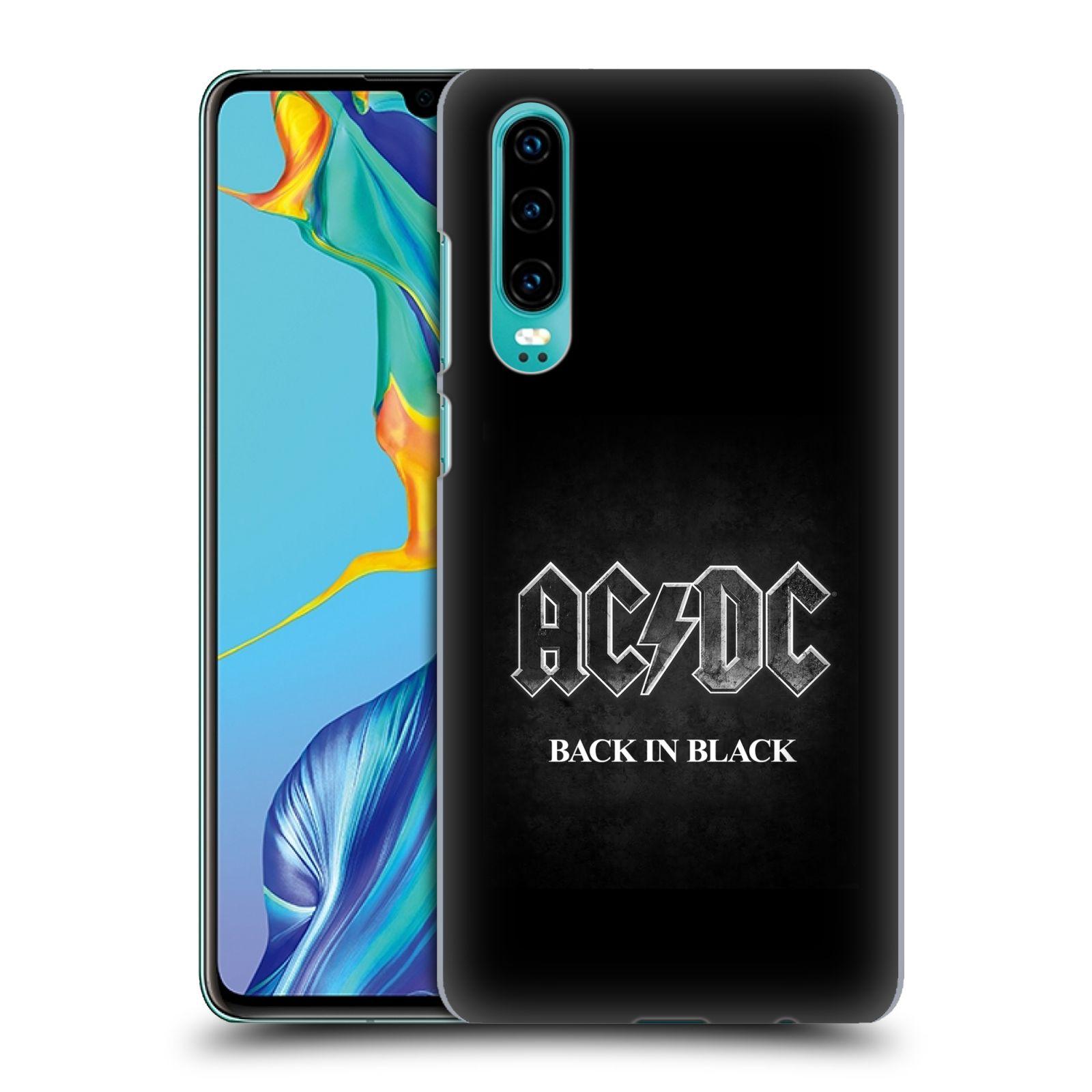 Plastové pouzdro na mobil Huawei P30 - Head Case - AC/DC BACK IN BLACK