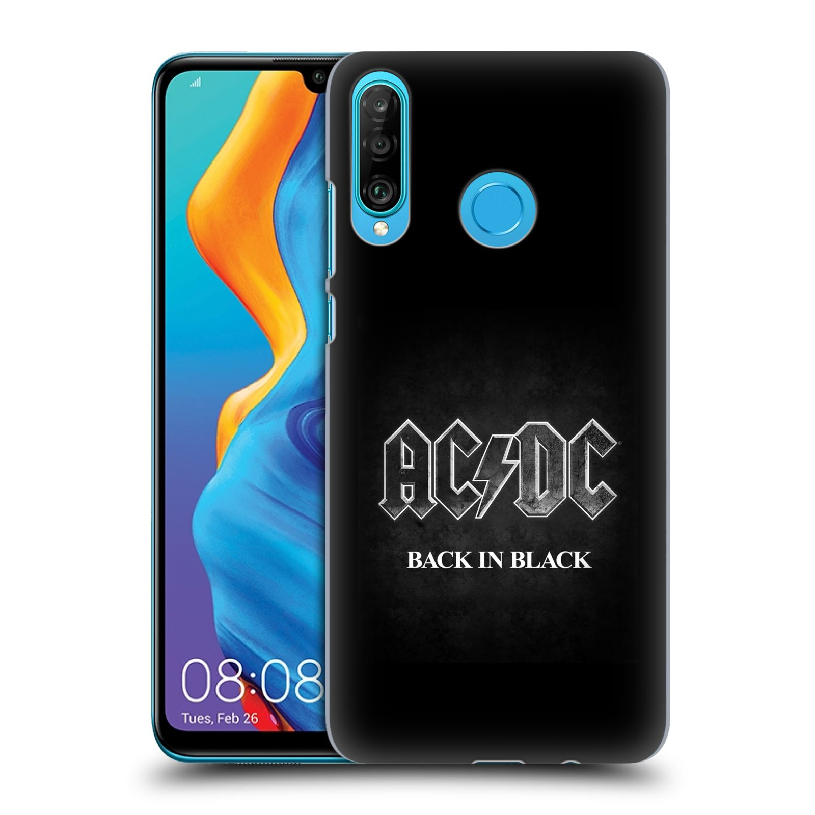 Plastové pouzdro na mobil Huawei P30 Lite - Head Case - AC/DC BACK IN BLACK