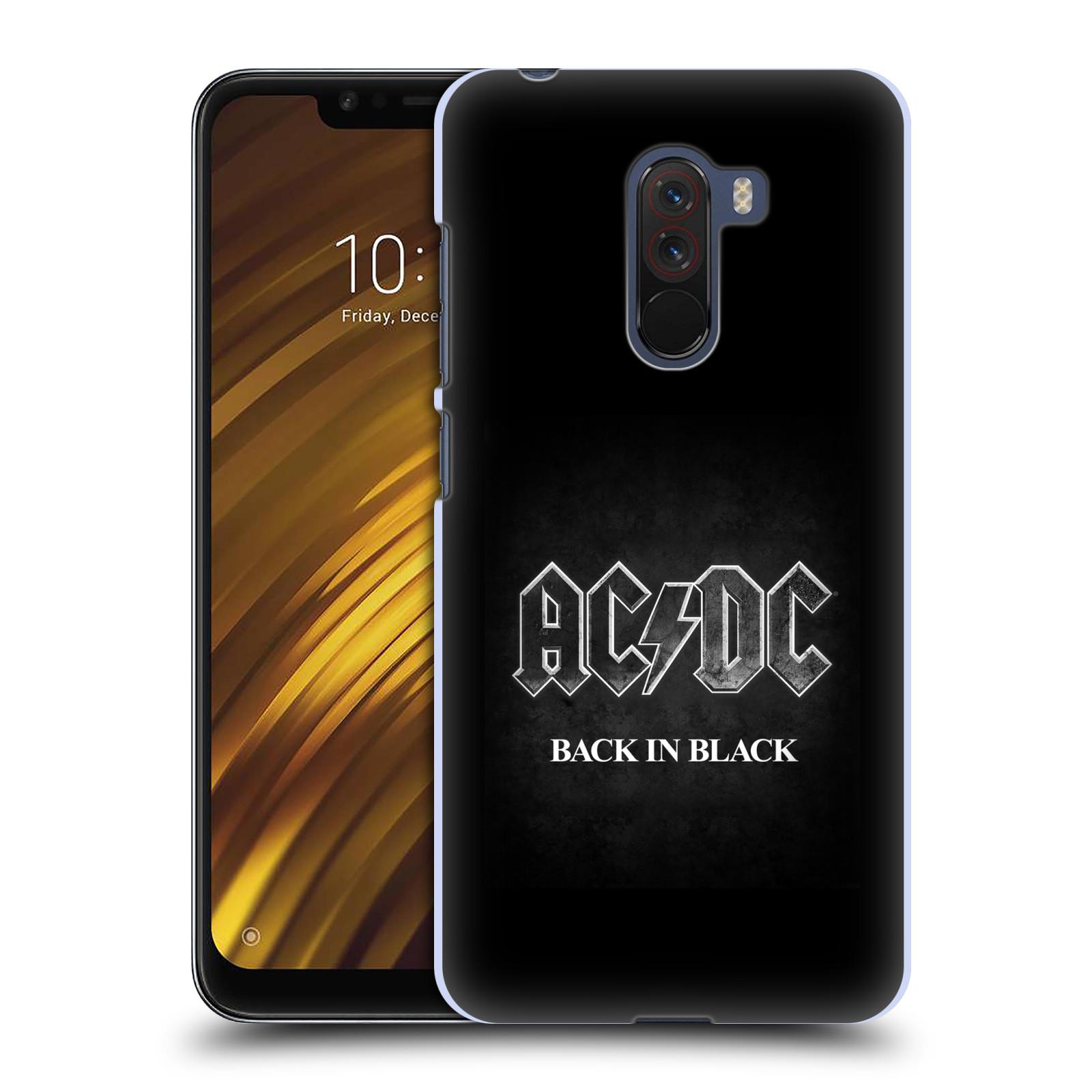 Plastové pouzdro na mobil Xiaomi Pocophone F1 - Head Case - AC/DC BACK IN BLACK
