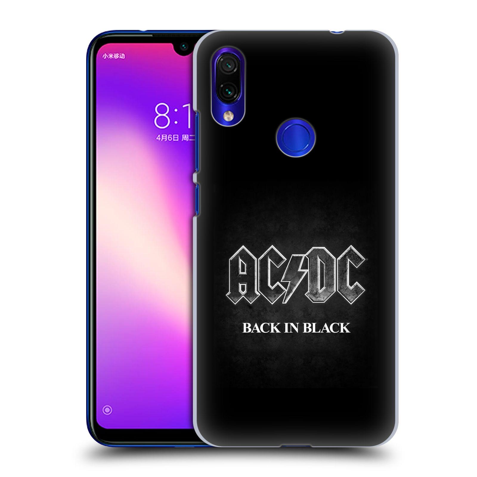 Plastové pouzdro na mobil Xiaomi Redmi Note 7 - Head Case - AC/DC BACK IN BLACK