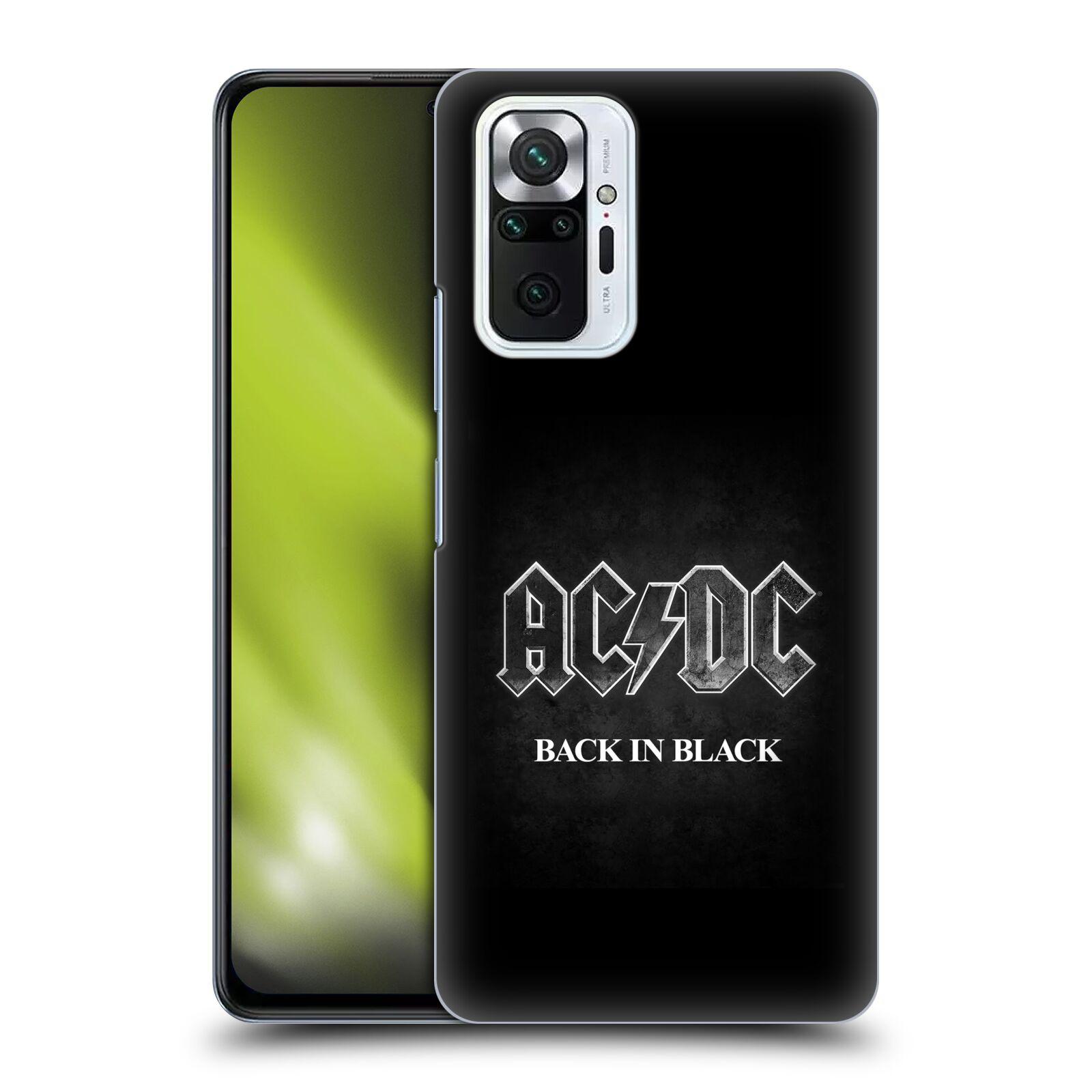 Plastové pouzdro na mobil Xiaomi Redmi Note 10 Pro - Head Case - AC/DC BACK IN BLACK