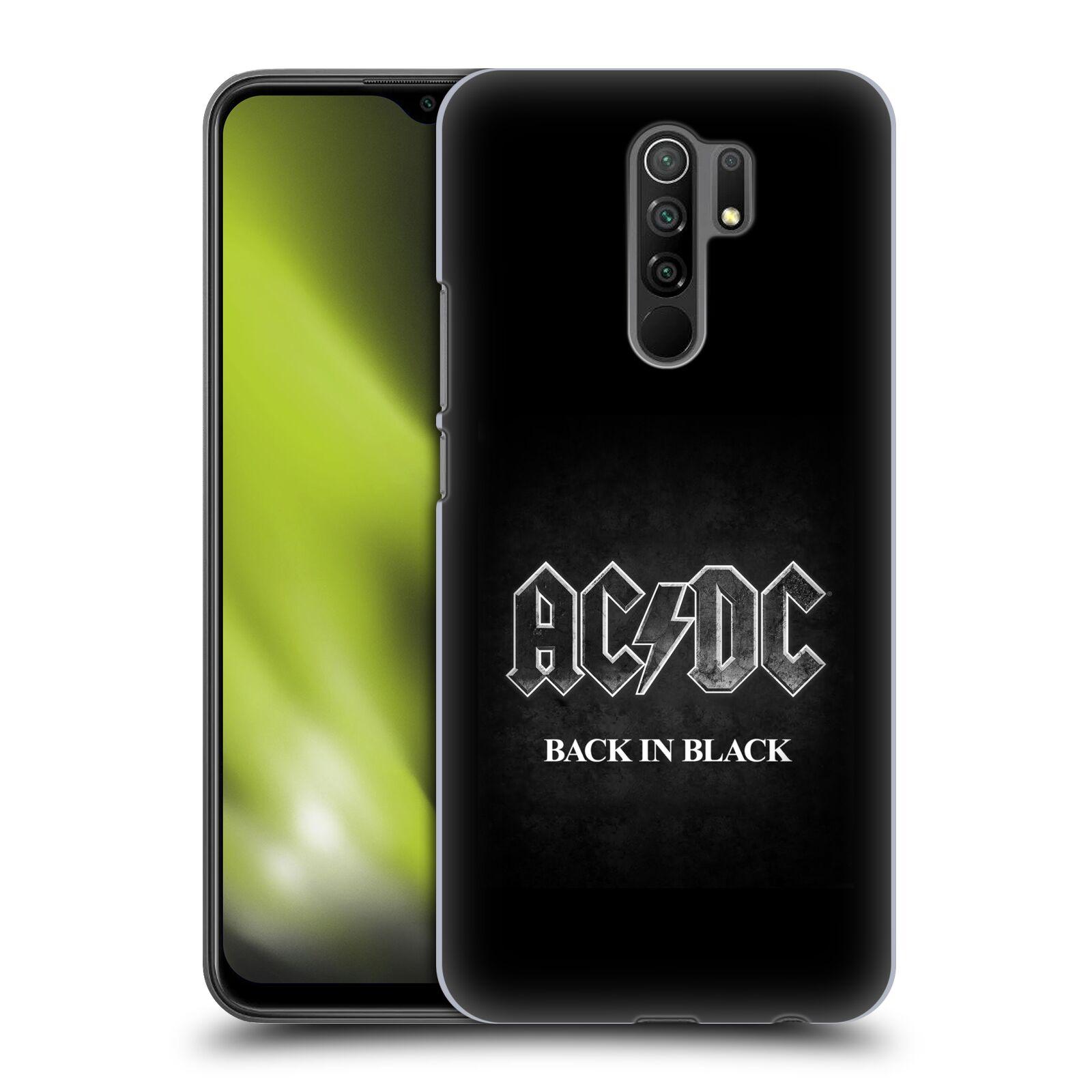 Plastové pouzdro na mobil Xiaomi Redmi 9 - Head Case - AC/DC BACK IN BLACK