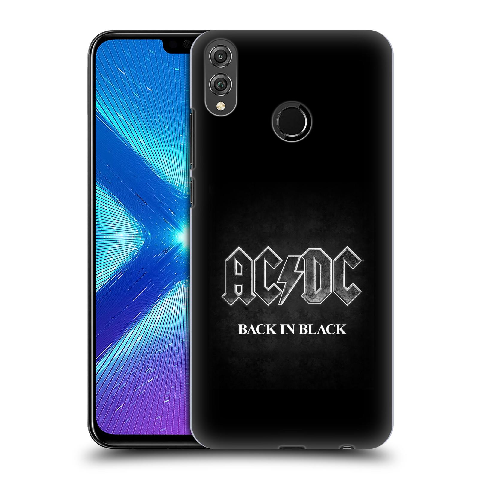 Plastové pouzdro na mobil Honor 8X - Head Case - AC/DC BACK IN BLACK