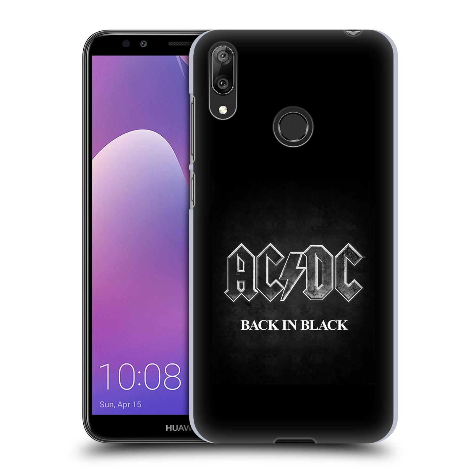 Plastové pouzdro na mobil Huawei Y7 (2019) - Head Case - AC/DC BACK IN BLACK