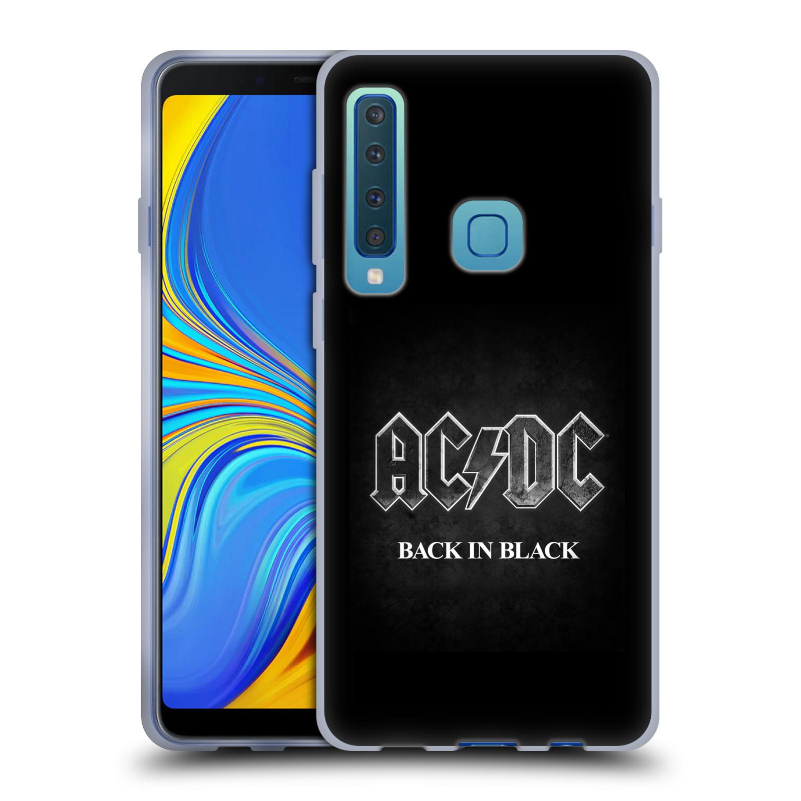 Silikonové pouzdro na mobil Samsung Galaxy A9 (2018) - Head Case - AC/DC BACK IN BLACK